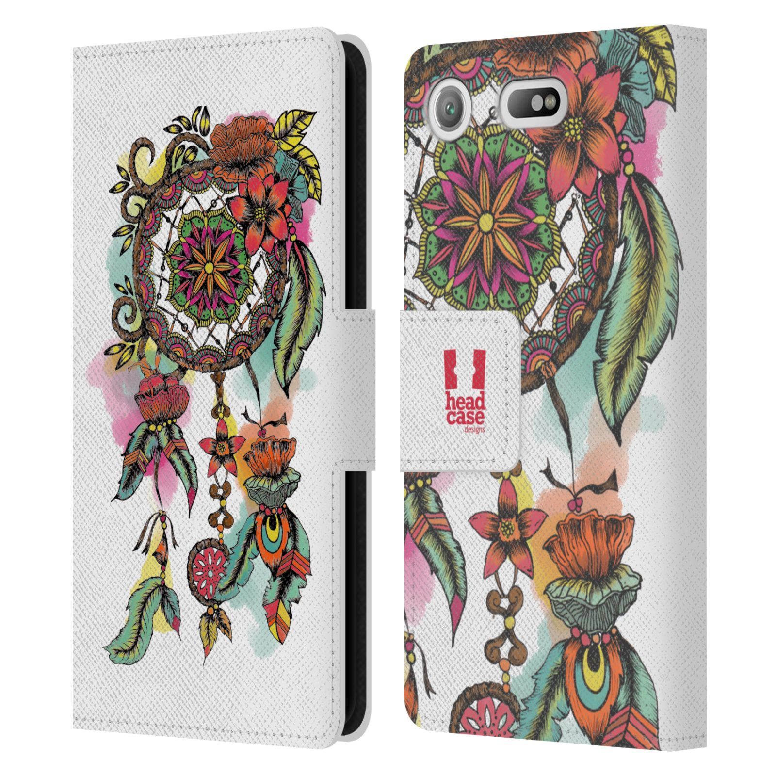 Pouzdro na mobil Sony Xperia XZ1 Compact - Head Case - Lapač snů květy červená