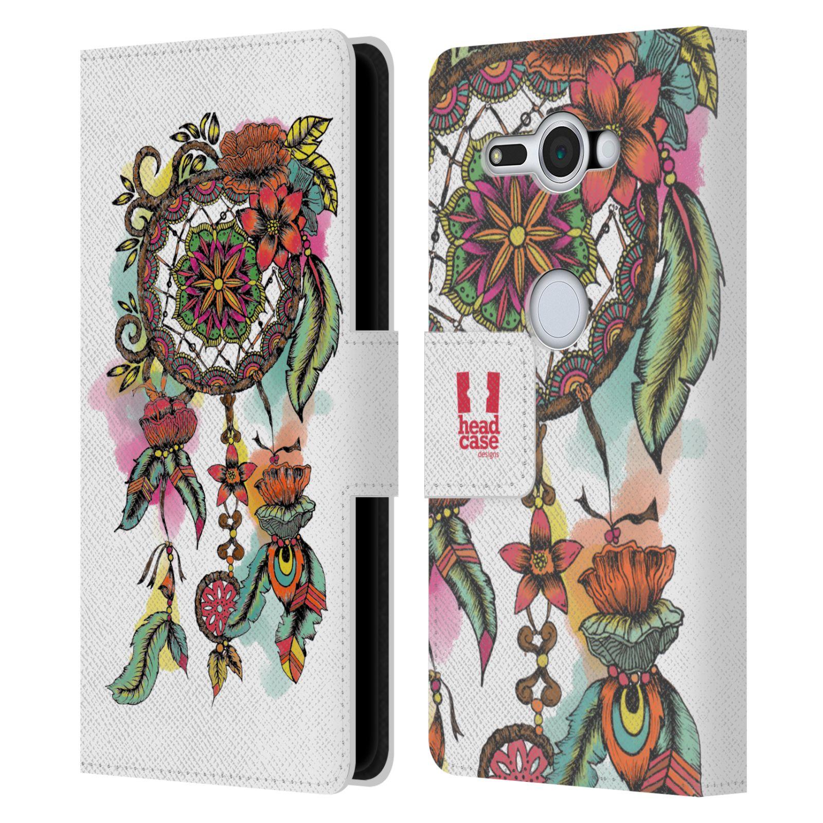 Pouzdro na mobil Sony Xperia XZ2 Compact - Head Case - Lapač snů květy červená