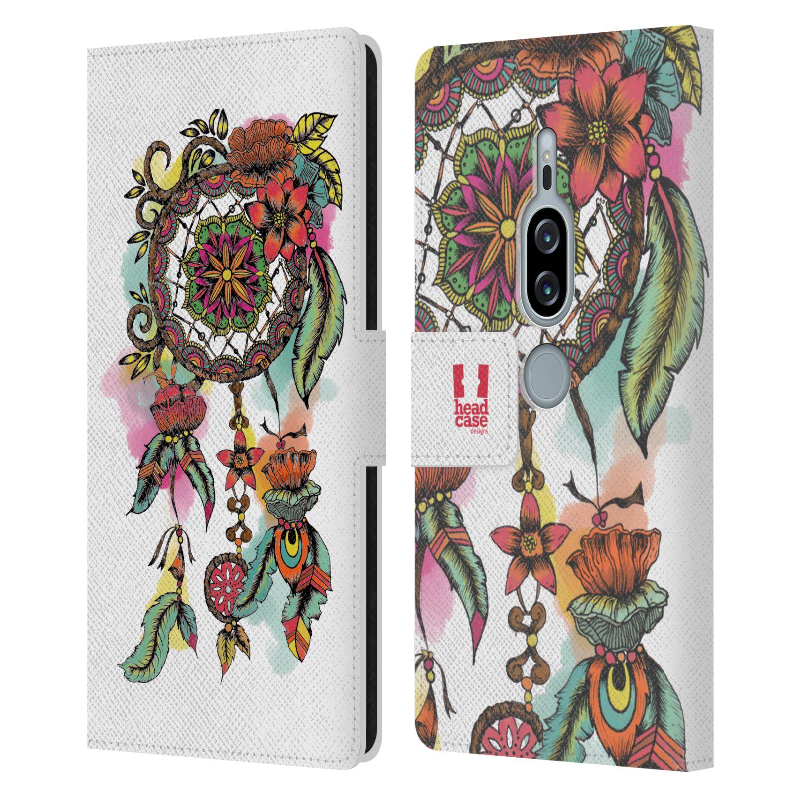 Pouzdro na mobil Sony Xperia XZ2 Premium - Head Case - Lapač snů květy červená
