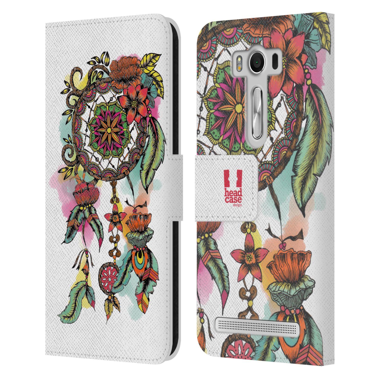 Pouzdro na mobil Asus Zenfone 2 Laser ZE500KL - Head Case - Lapač snů květy červená