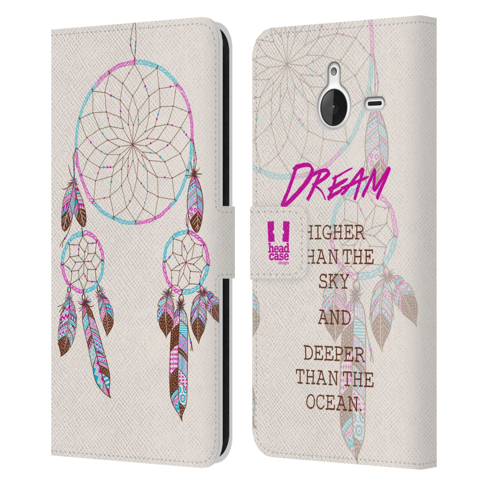 Pouzdro na mobil Nokia Lumia 640 XL - Head Case - Lapač snů fialová dream
