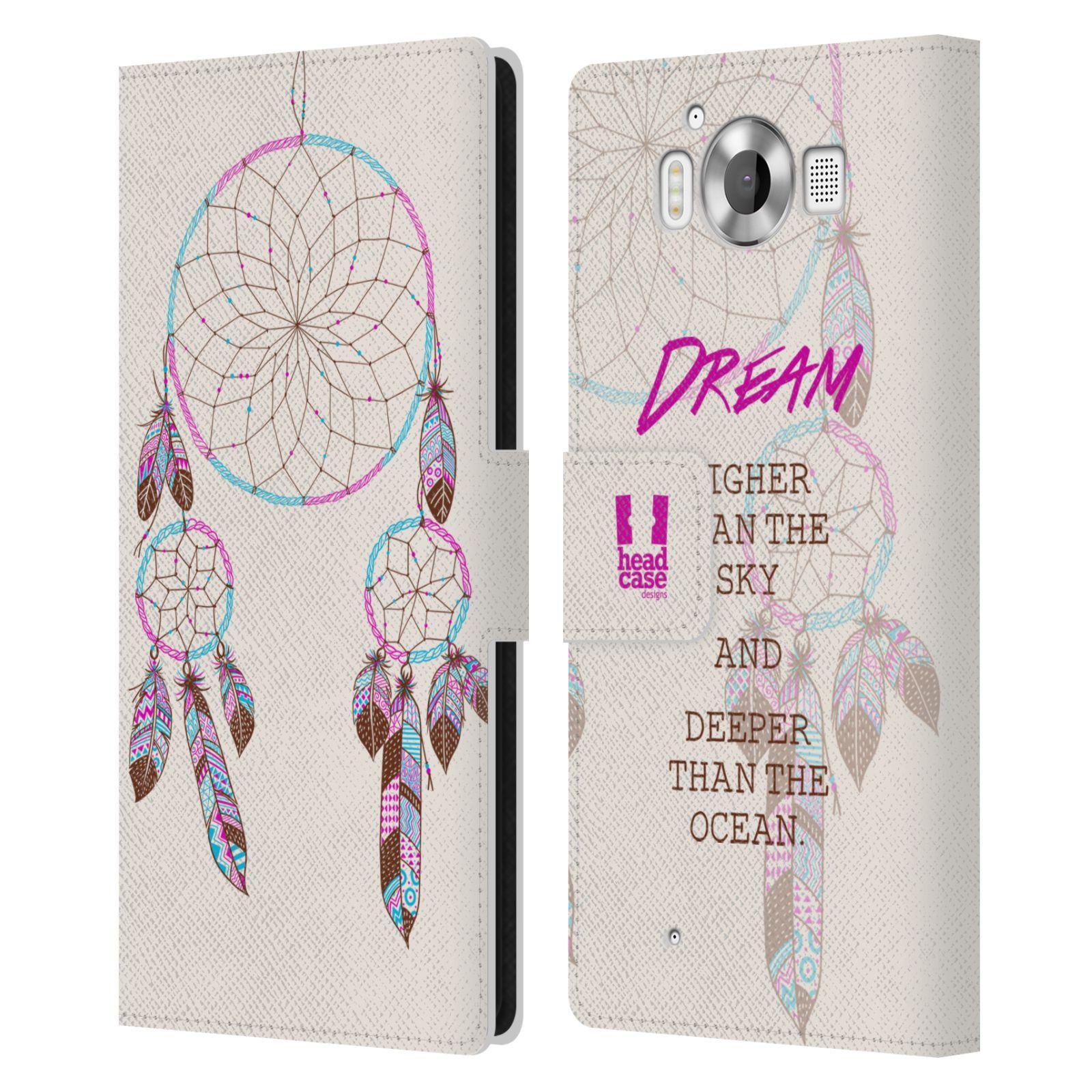 Pouzdro na mobil Nokia Lumia 950 - Head Case - Lapač snů fialová dream