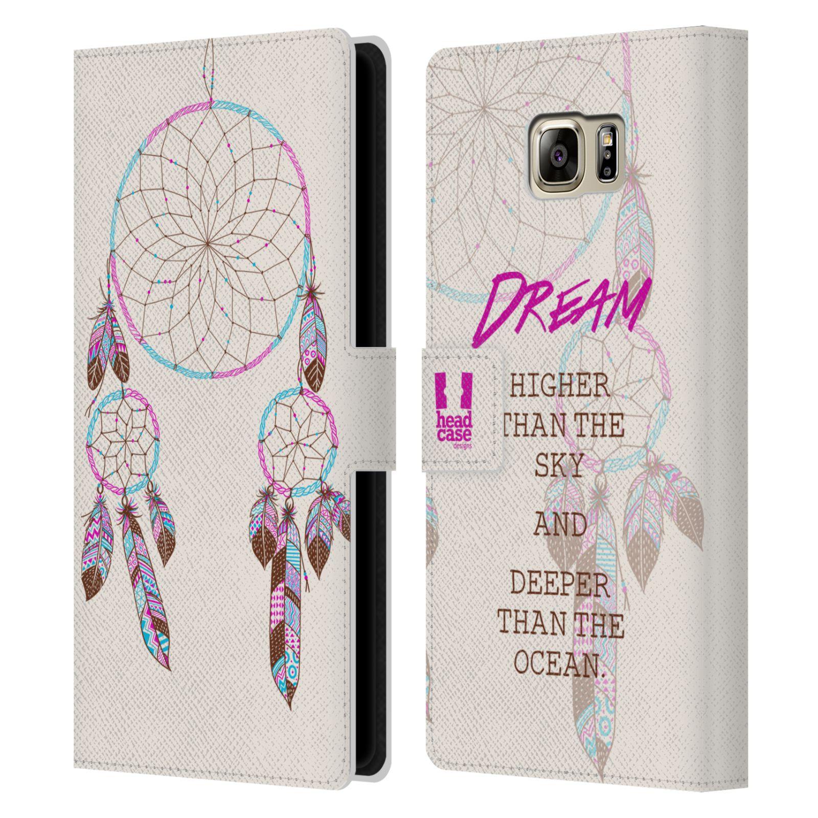 Pouzdro na mobil Samsung Galaxy NOTE 5 - Head Case - Lapač snů fialová dream