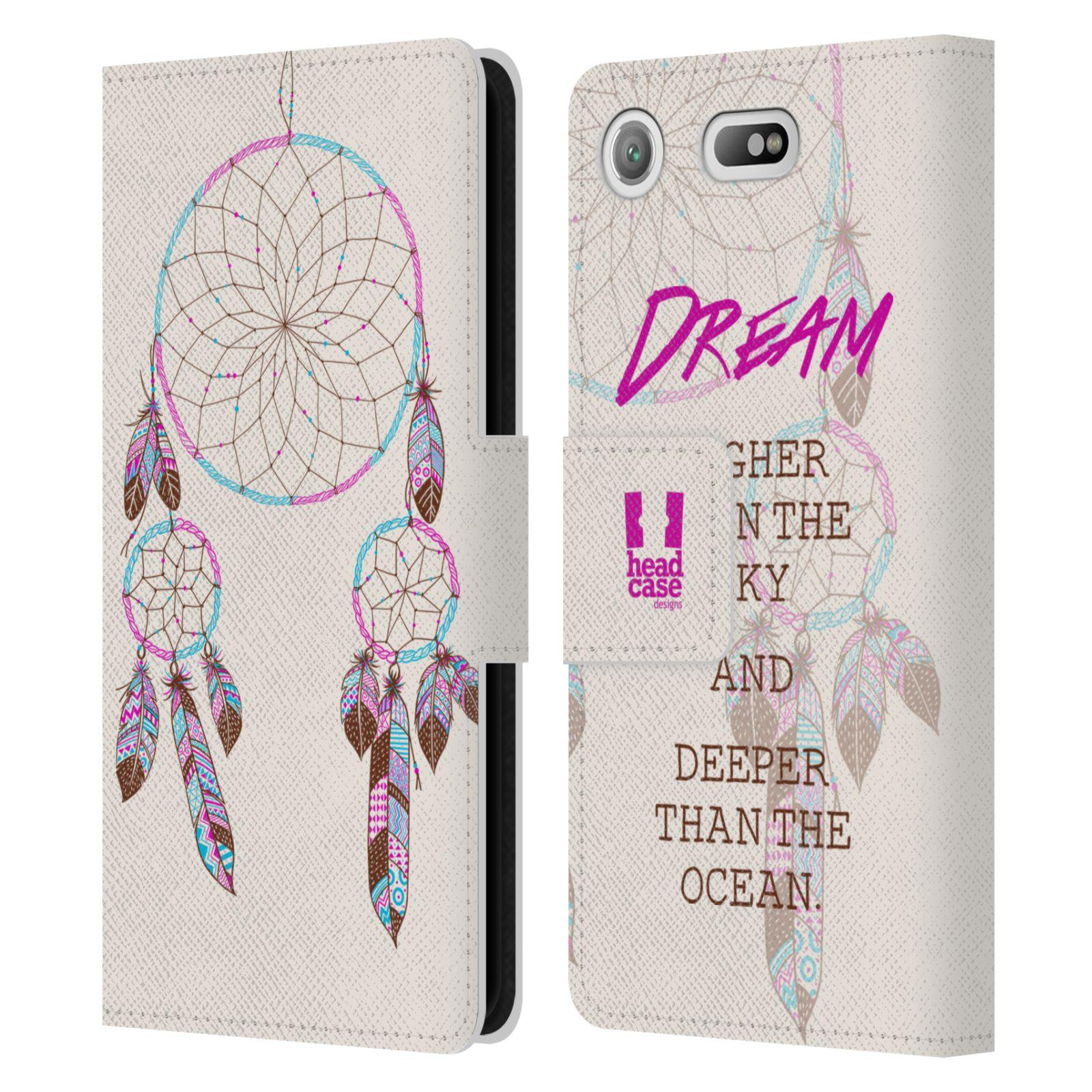 Pouzdro na mobil Sony Xperia XZ1 Compact - Head Case - Lapač snů fialová dream