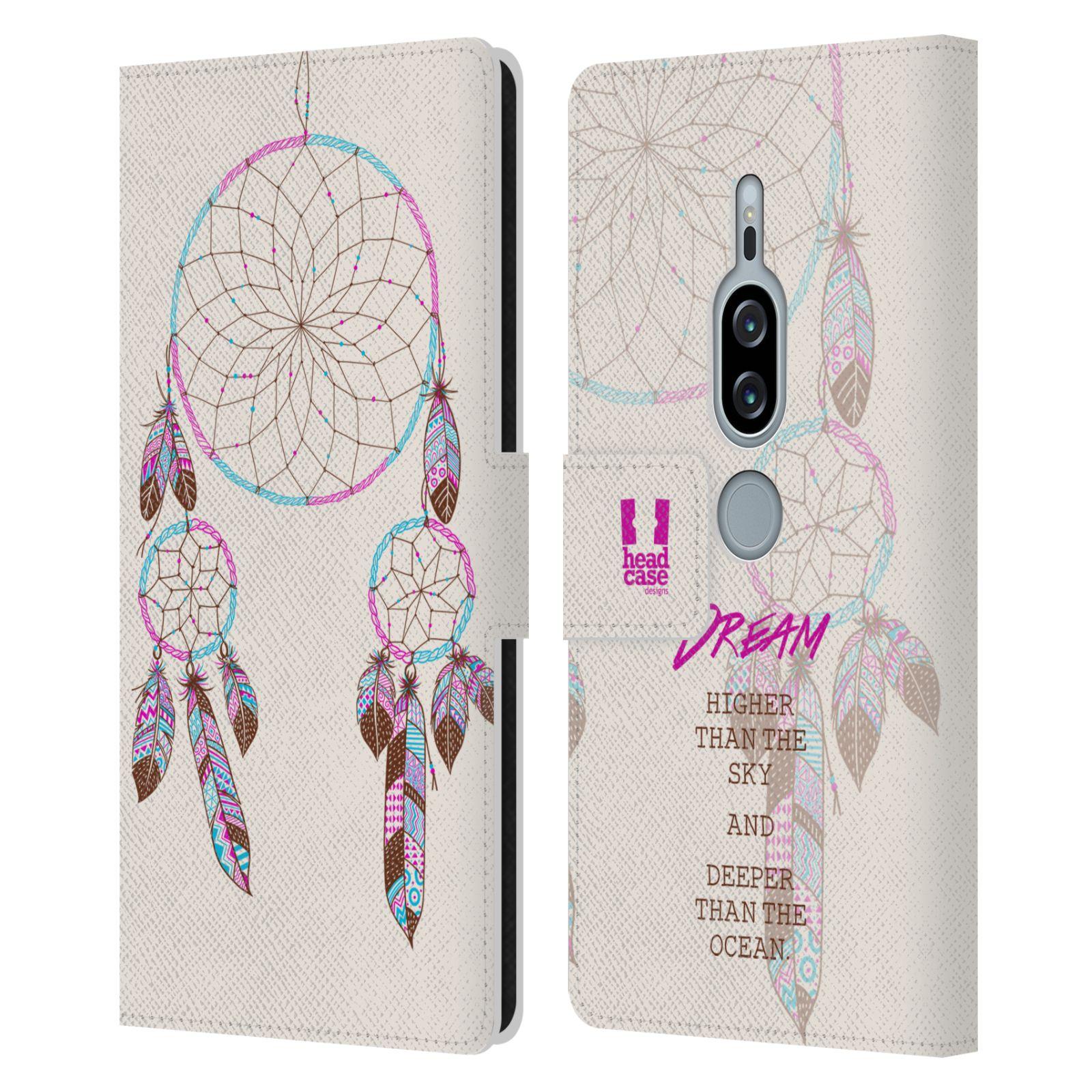 Pouzdro na mobil Sony Xperia XZ2 Premium - Head Case - Lapač snů fialová dream