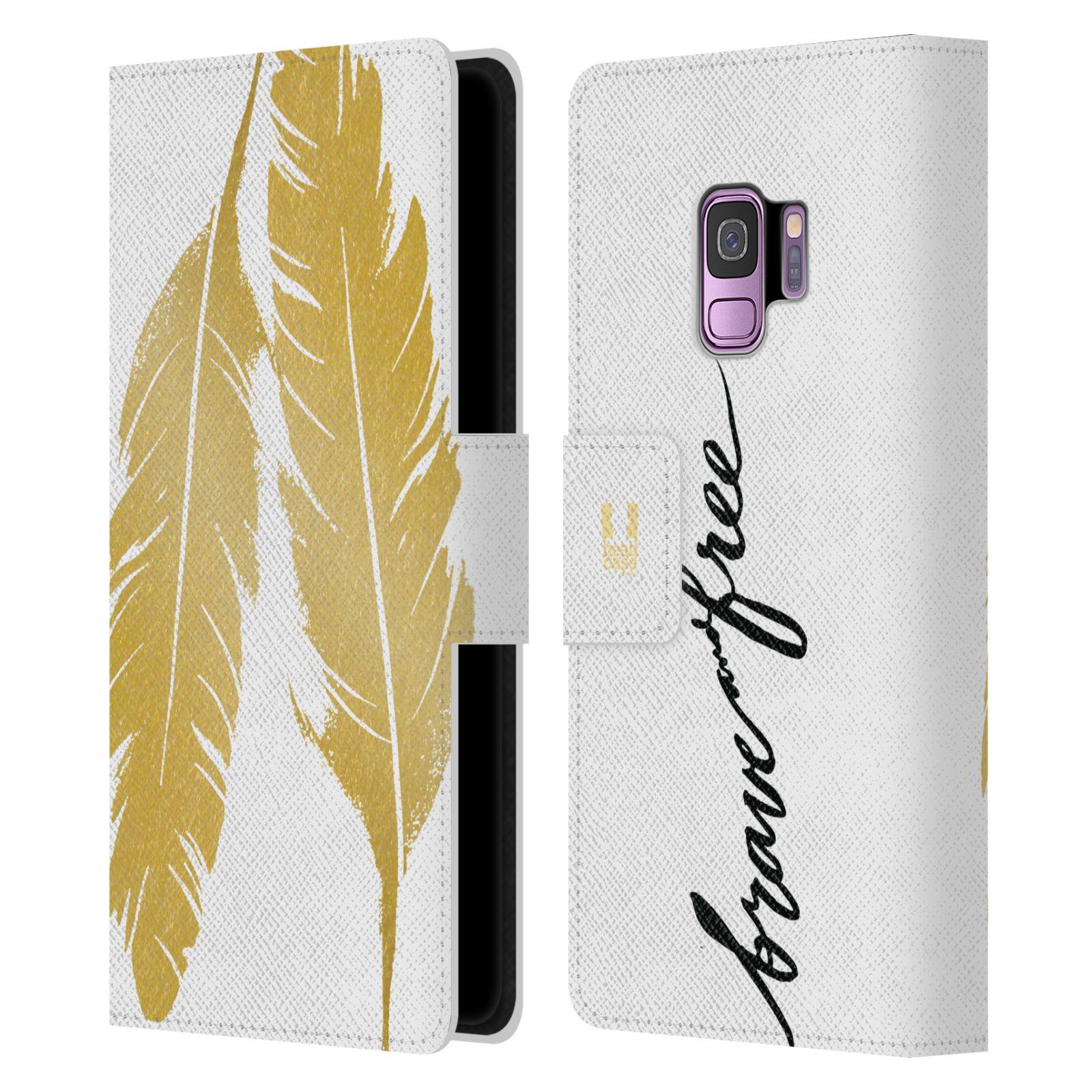 Pouzdro na mobil Samsung Galaxy S9 - Head Case - Fashion zlaté pírka