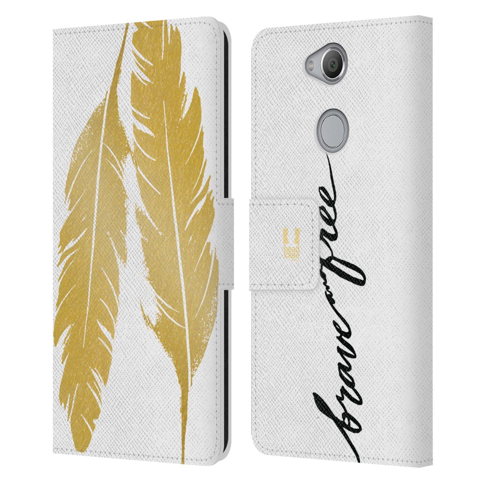 Pouzdro na mobil Sony Xperia XA2 - Head Case - Fashion zlaté pírka