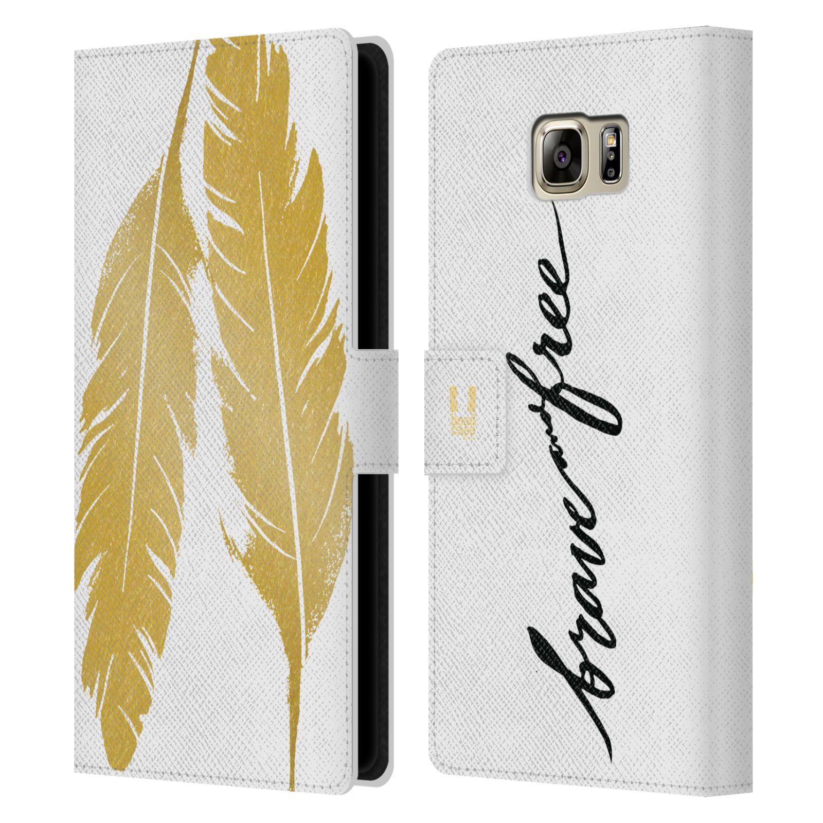 Pouzdro na mobil Samsung Galaxy NOTE 5 - Head Case - Fashion zlaté pírka