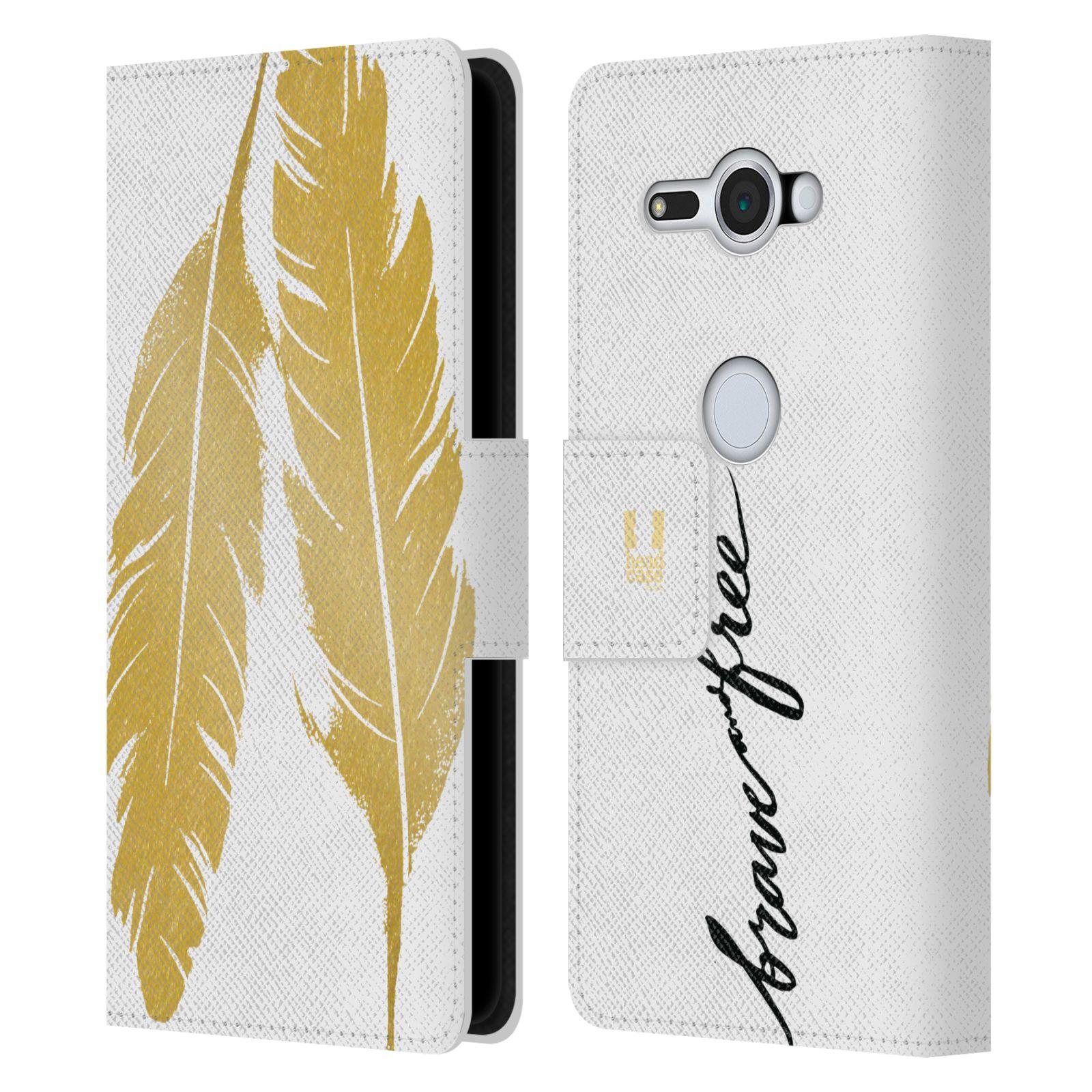 Pouzdro na mobil Sony Xperia XZ2 Compact - Head Case - Fashion zlaté pírka