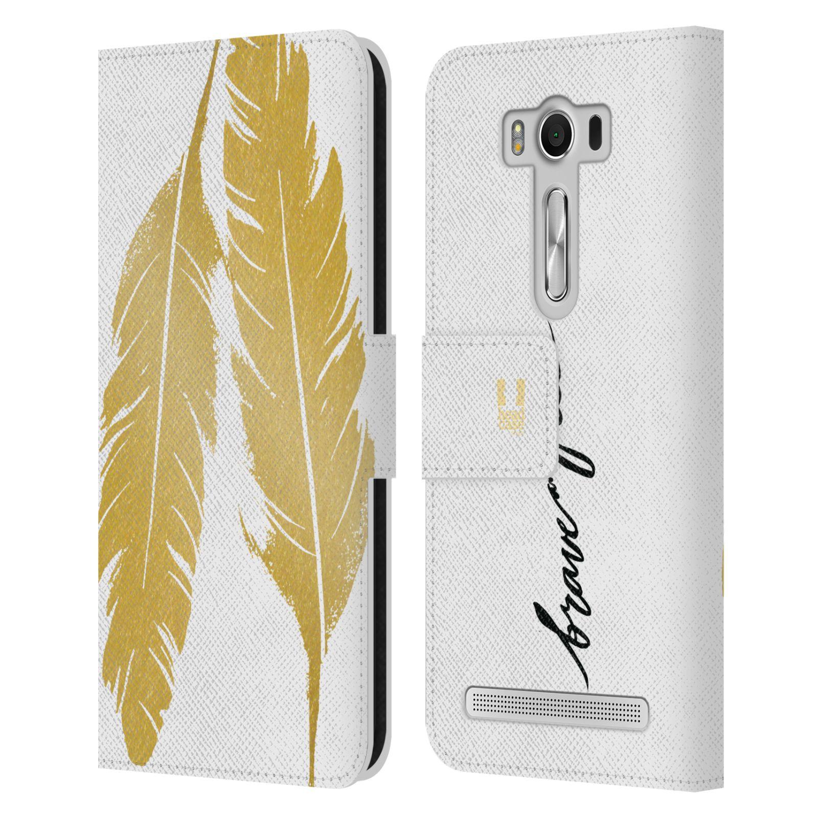 Pouzdro na mobil Asus Zenfone 2 Laser ZE500KL - Head Case - Fashion zlaté pírka