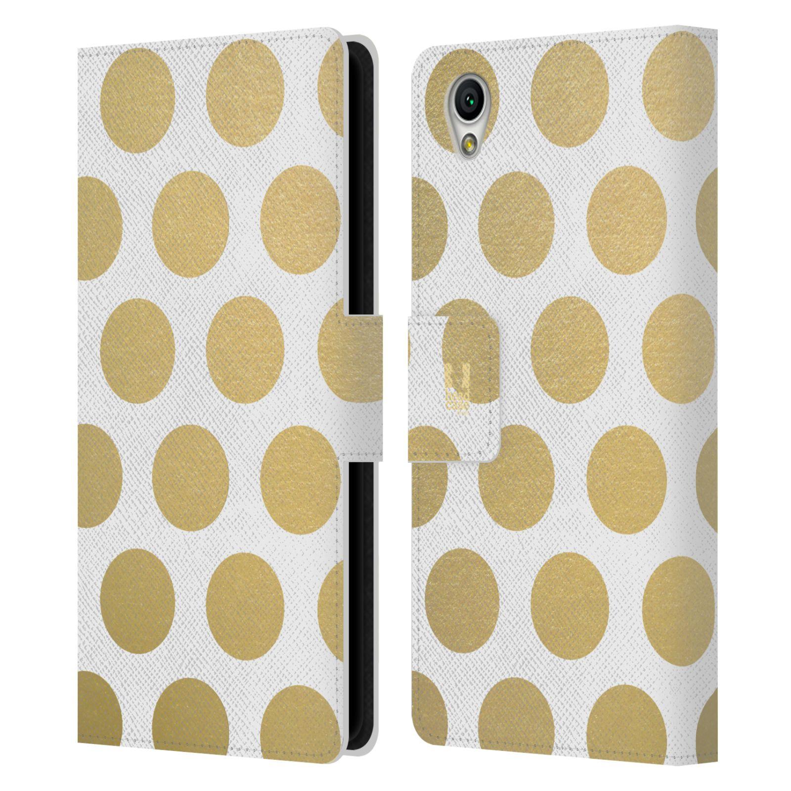 Pouzdro na mobil Sony Xperia L1 - Head Case - Fashion zlaté tečky
