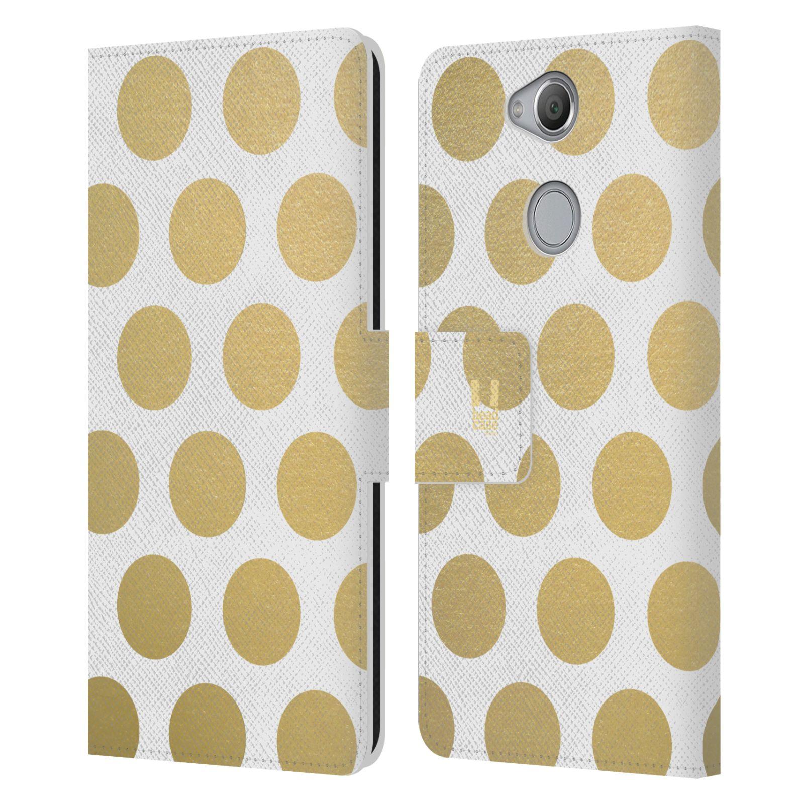 Pouzdro na mobil Sony Xperia XA2 - Head Case - Fashion zlaté tečky