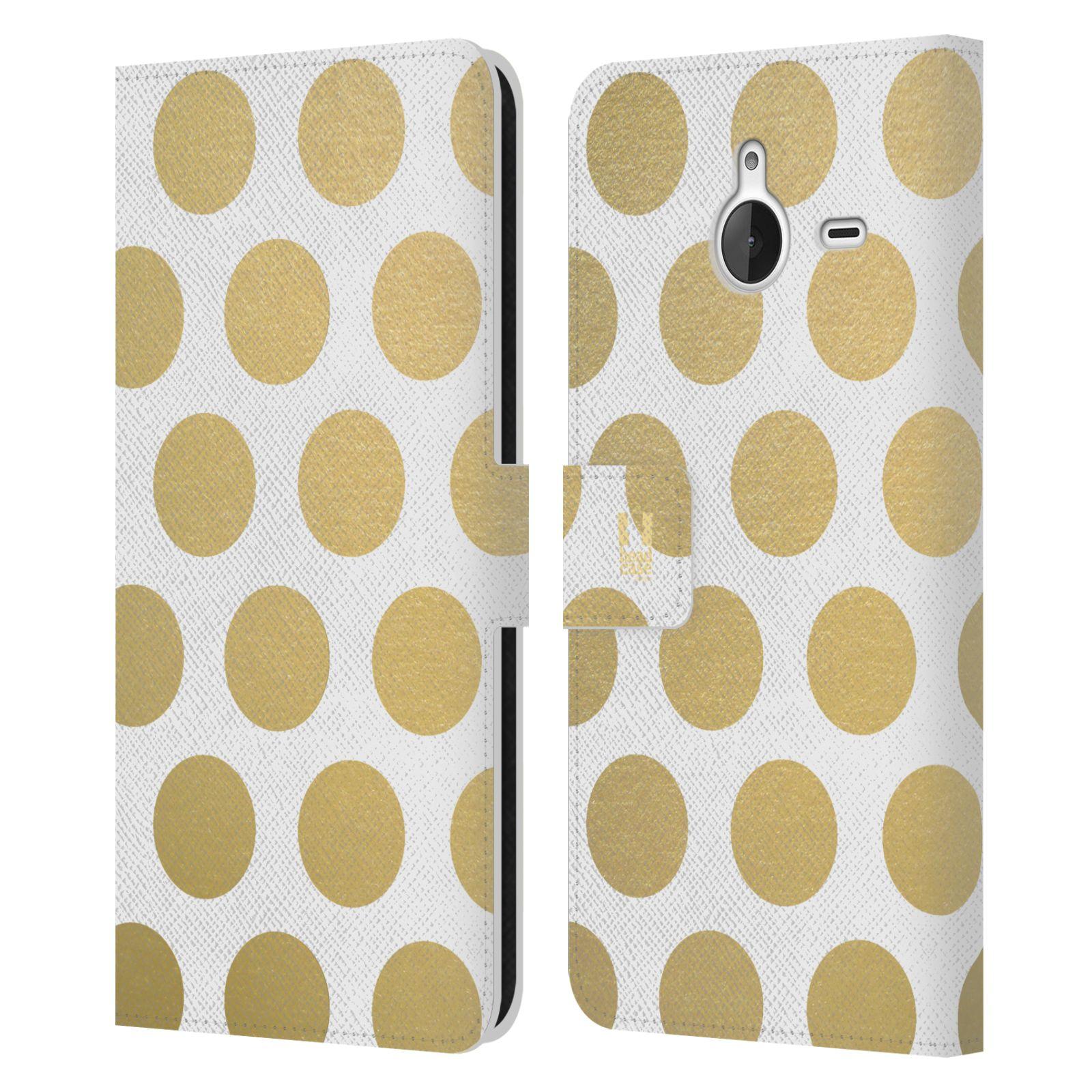 Pouzdro na mobil Nokia Lumia 640 XL - Head Case - Fashion zlaté tečky