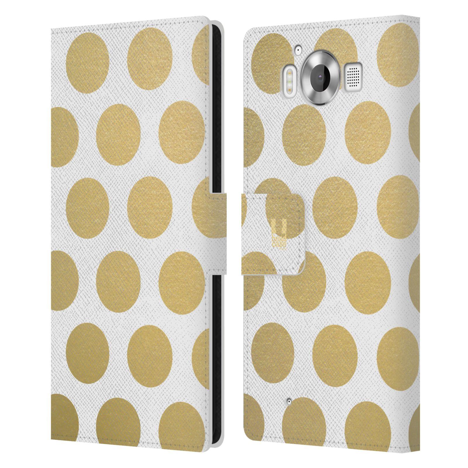 Pouzdro na mobil Nokia Lumia 950 - Head Case - Fashion zlaté tečky