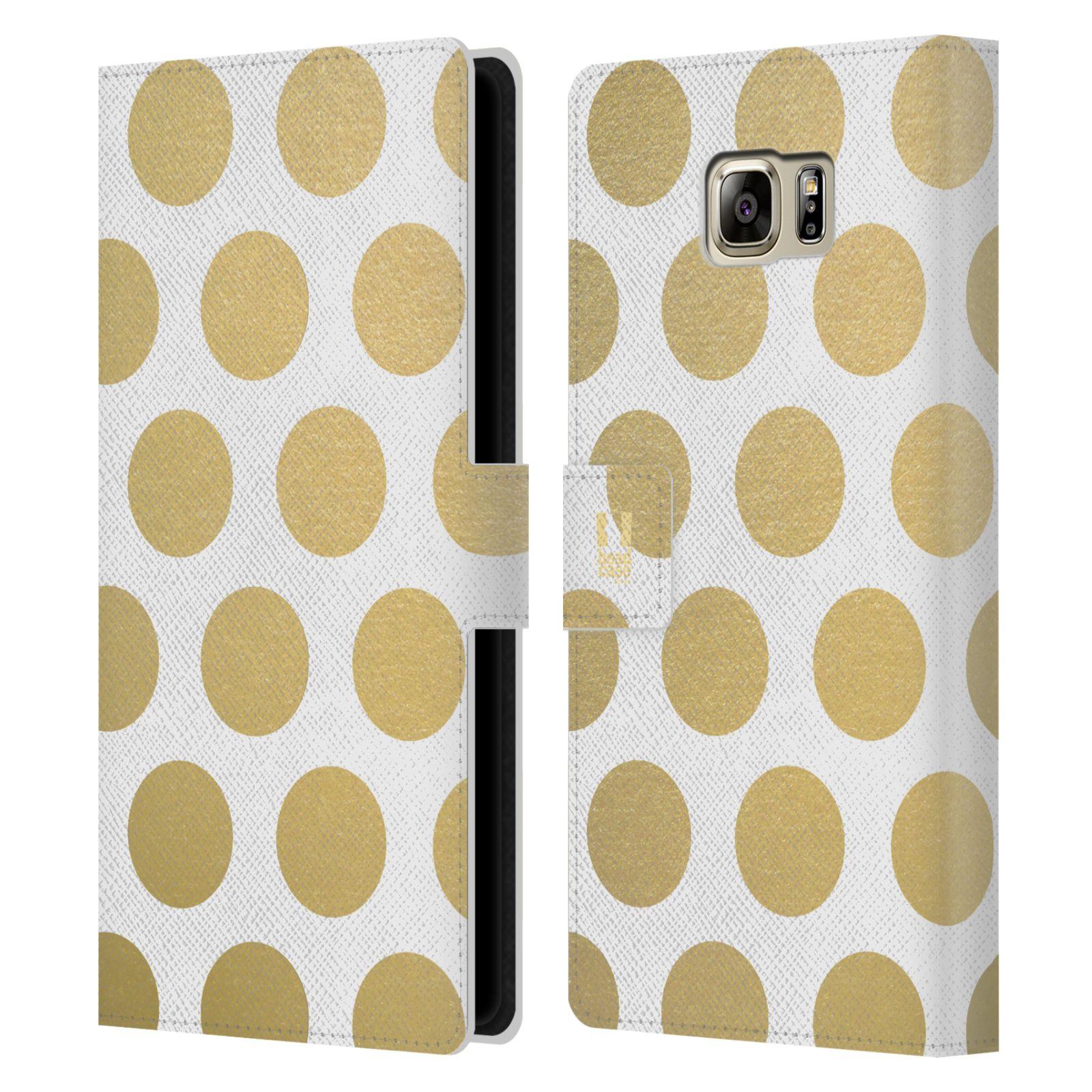 Pouzdro na mobil Samsung Galaxy NOTE 5 - Head Case - Fashion zlaté tečky