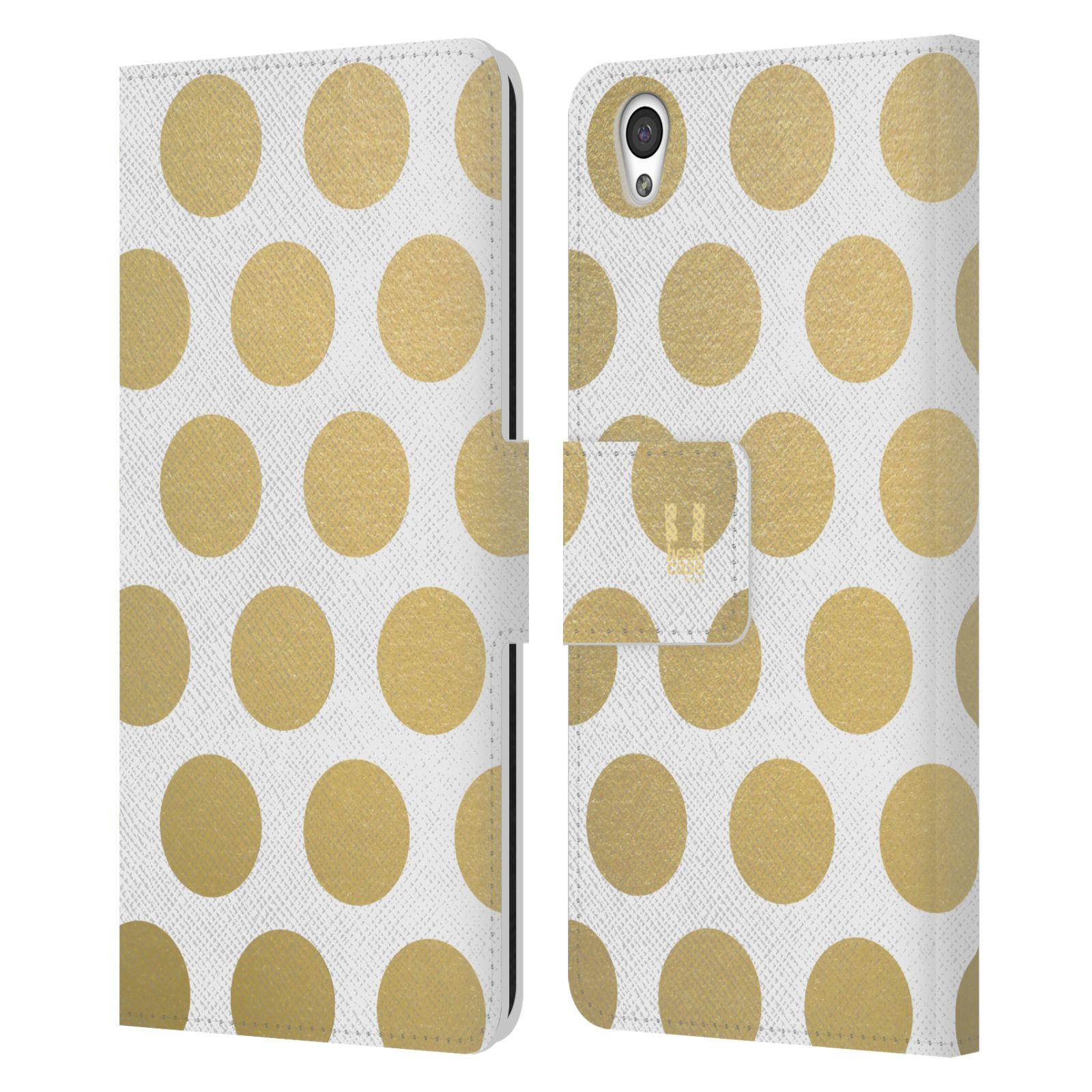 Pouzdro na mobil OnePlus X - Head Case - Fashion zlaté tečky