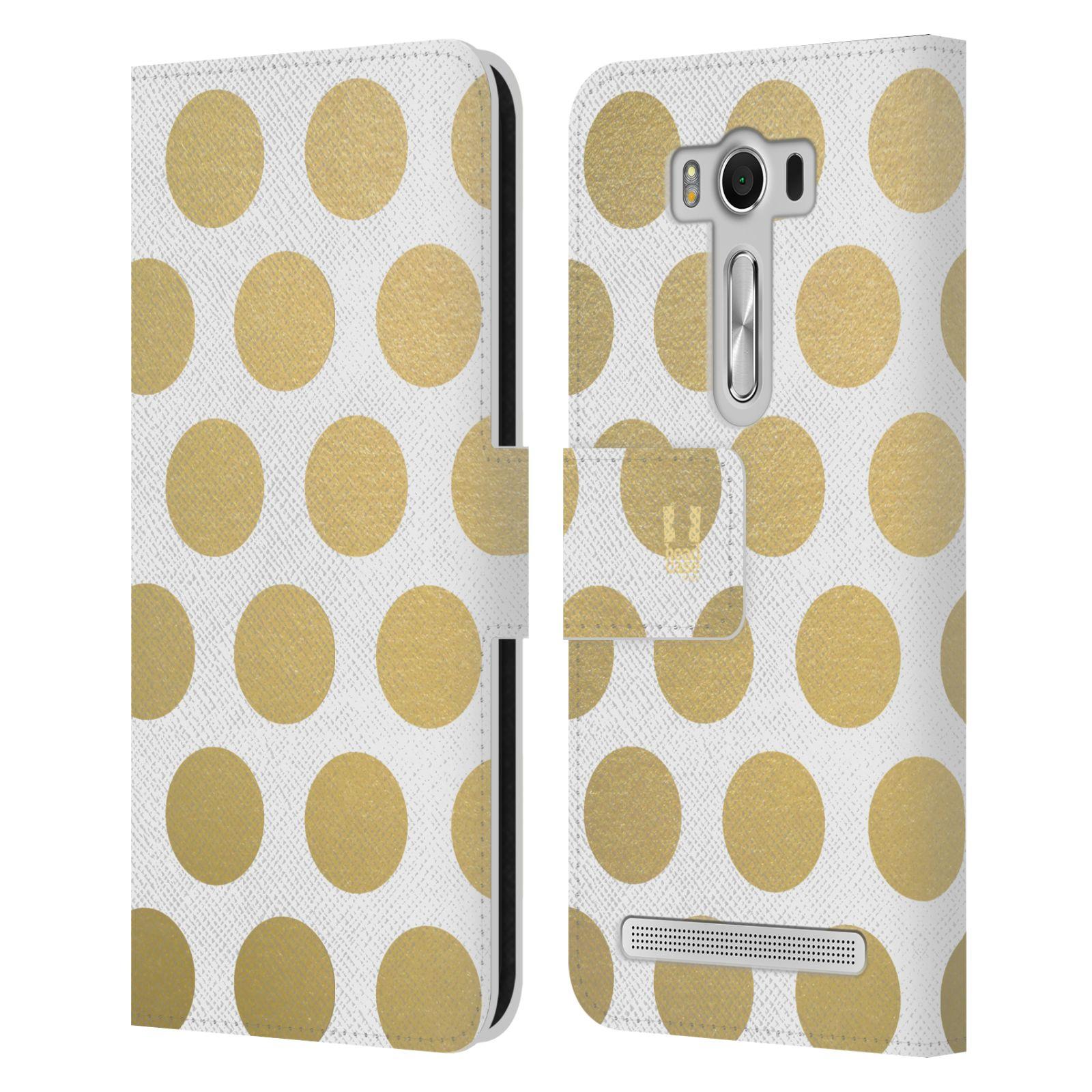 Pouzdro na mobil Asus Zenfone 2 Laser ZE500KL - Head Case - Fashion zlaté tečky