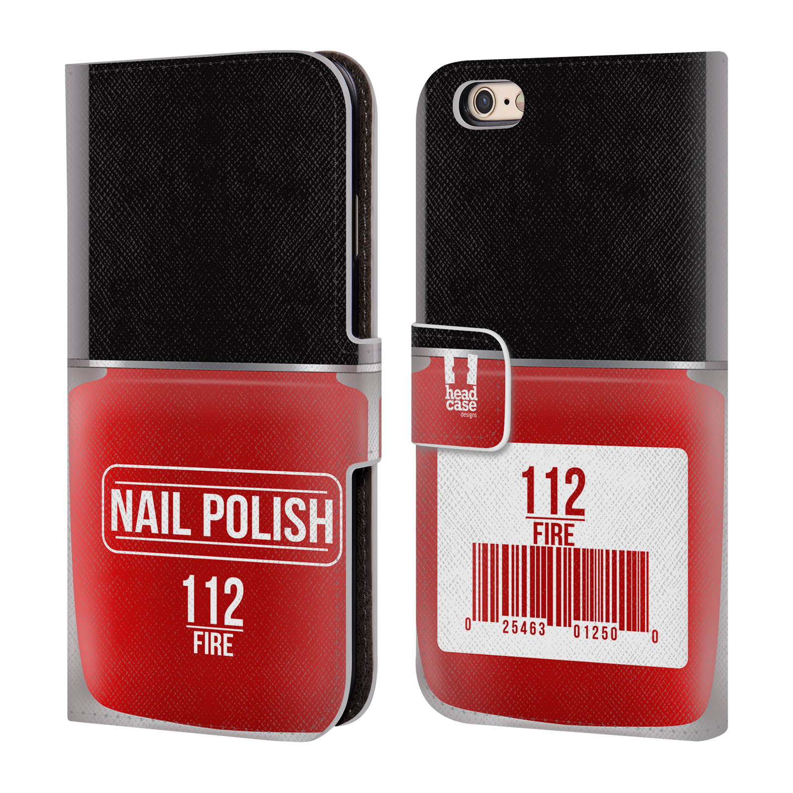 Marble Nail Polish Phone Case: HEAD CASE DESIGNS NAIL POLISH LEATHER BOOK WALLET CASE FOR