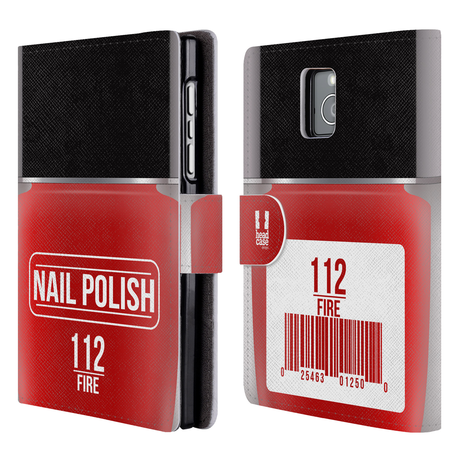 Book Cover Black Berry : Head case designs nail polish leather book wallet for