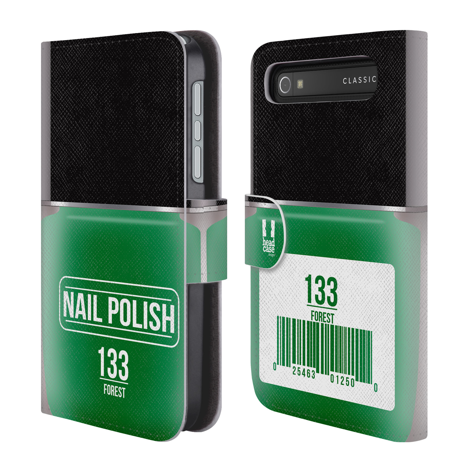 Book Cover Black Berry : Head case designs nail polish leather book for