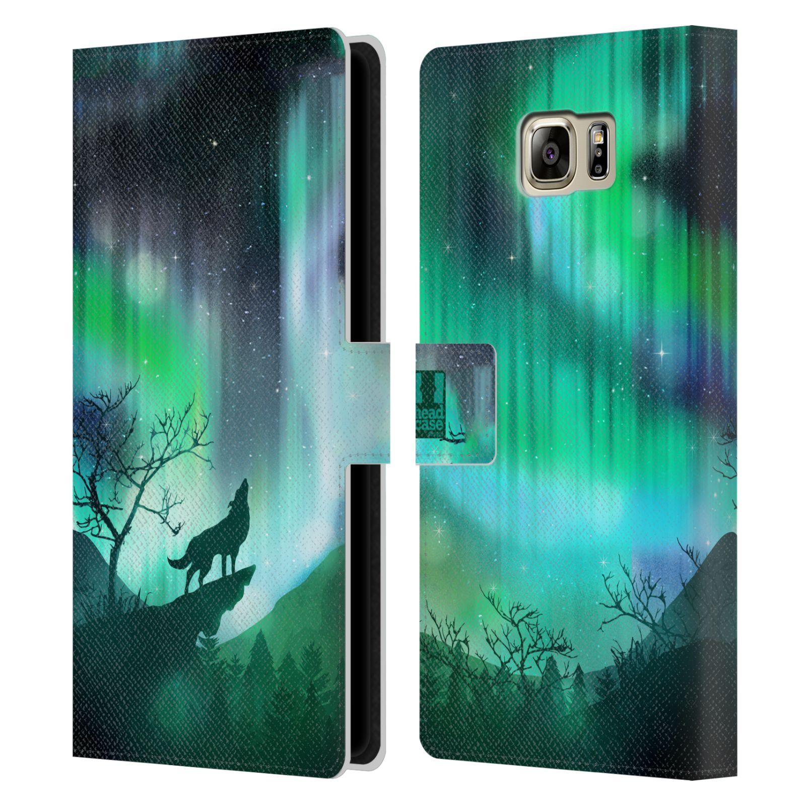 Pouzdro na mobil Samsung Galaxy NOTE 5 - Head Case - vlk a polární záře
