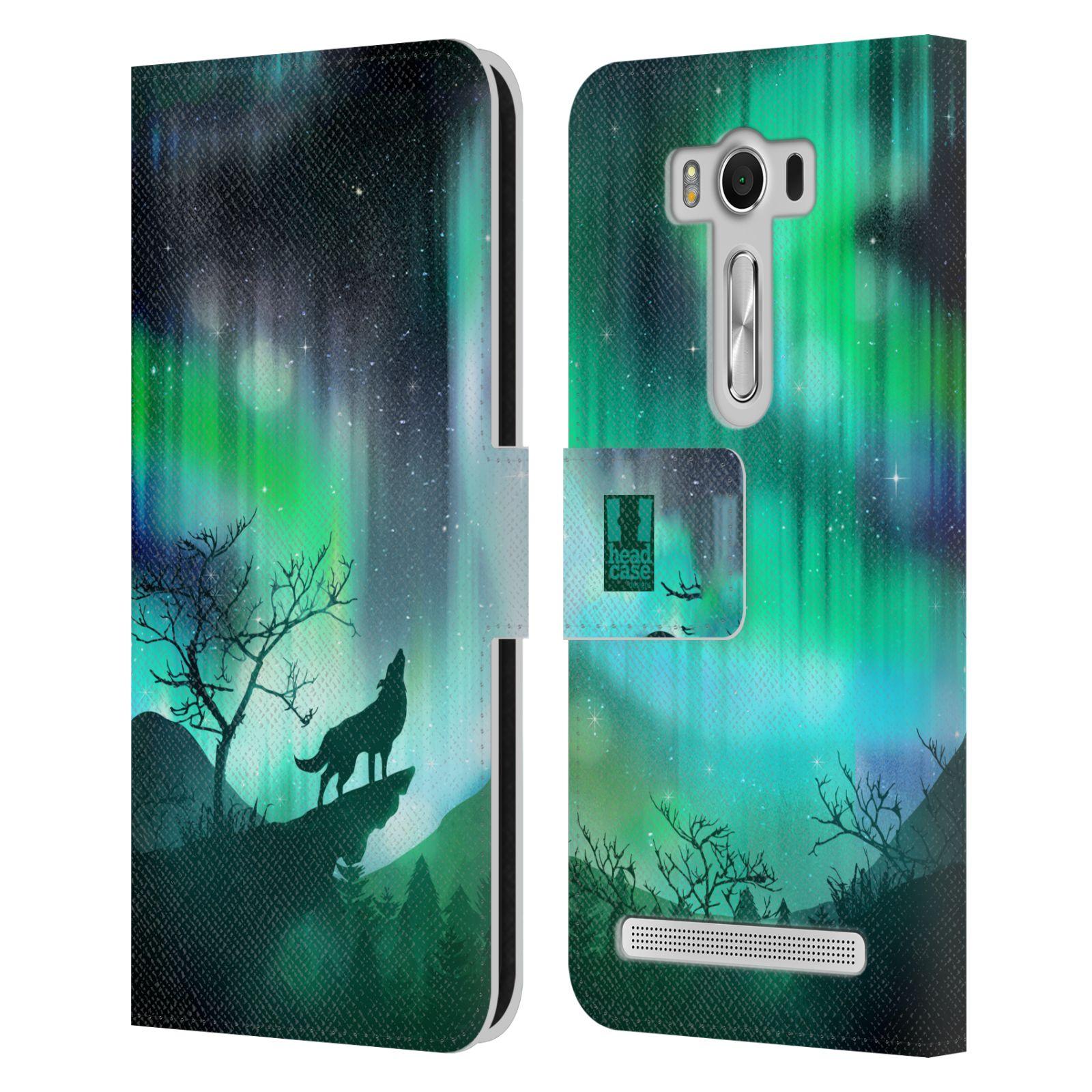 Pouzdro na mobil Asus Zenfone 2 Laser ZE500KL - Head Case - vlk a polární záře