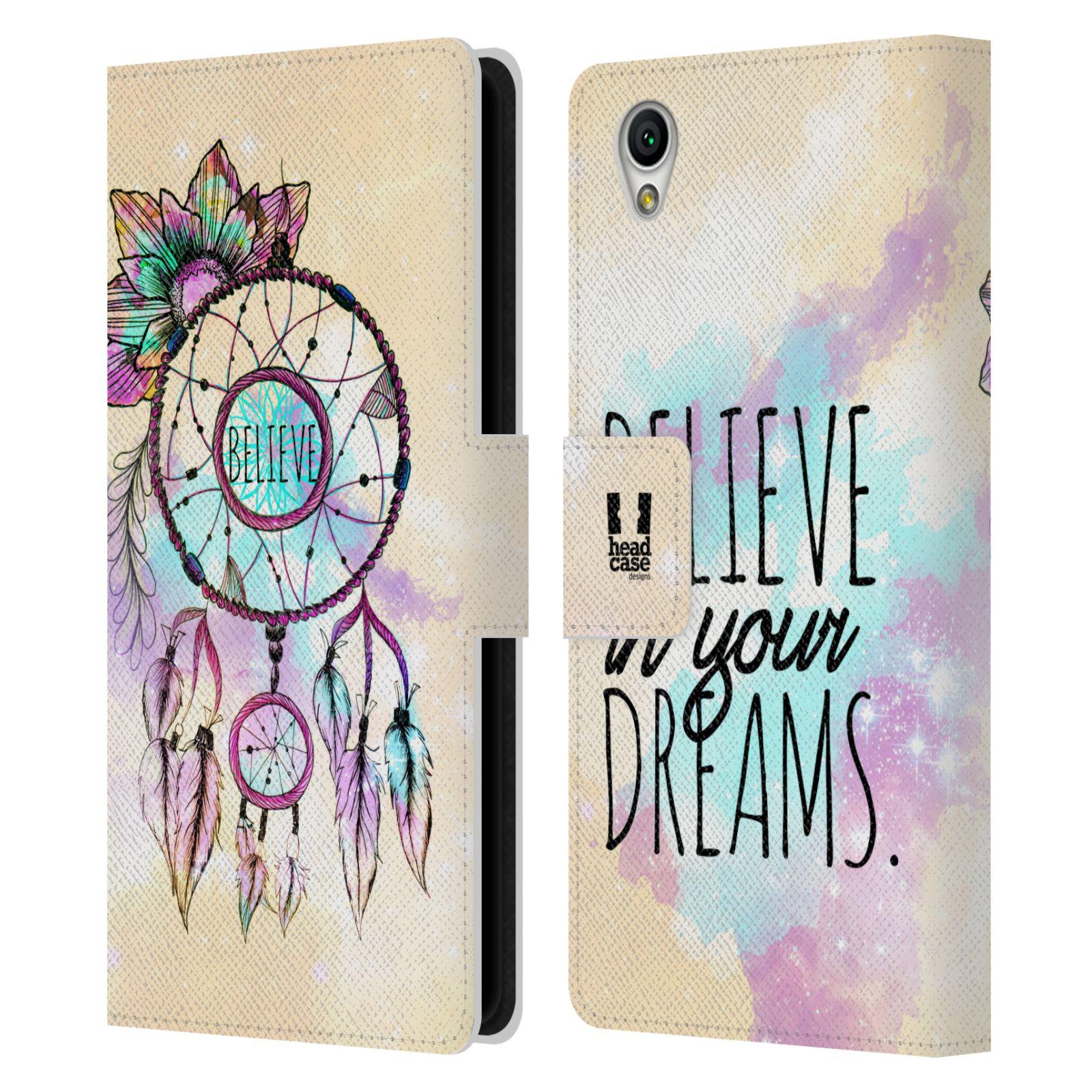 Pouzdro na mobil Sony Xperia L1 - Head Case - Lapač snů - květy fialová