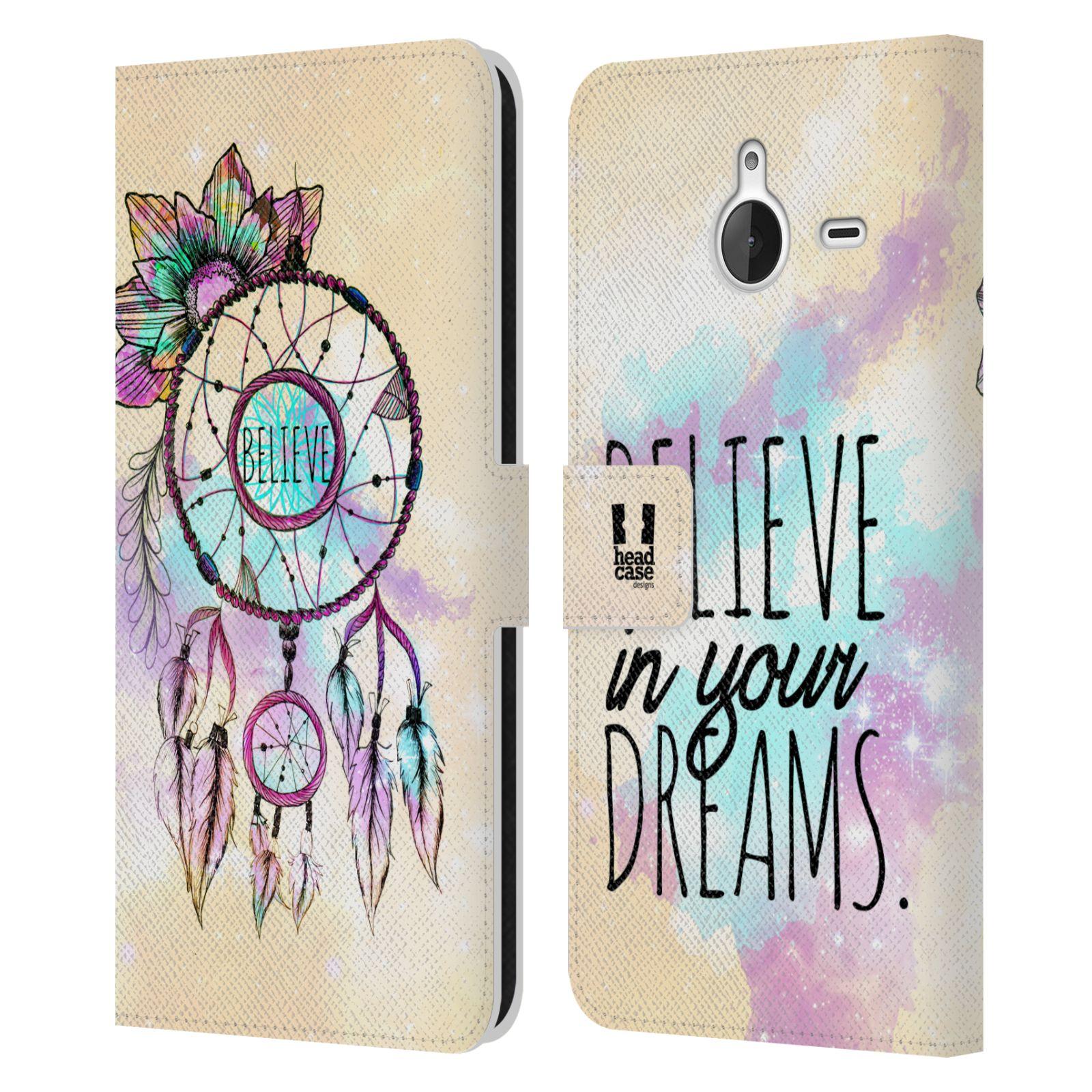 Pouzdro na mobil Nokia Lumia 640 XL - Head Case - Lapač snů - květy fialová