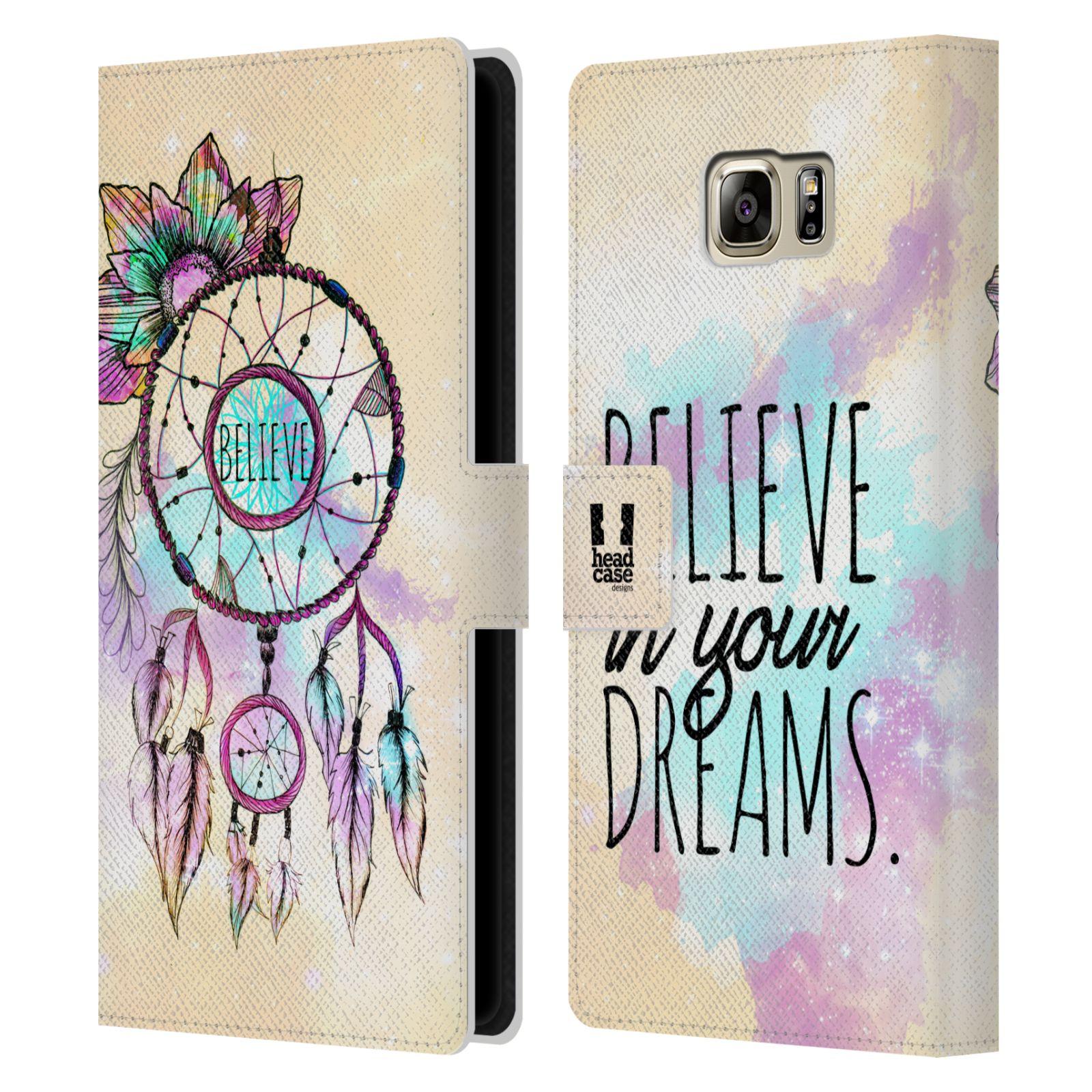 Pouzdro na mobil Samsung Galaxy NOTE 5 - Head Case - Lapač snů - květy fialová