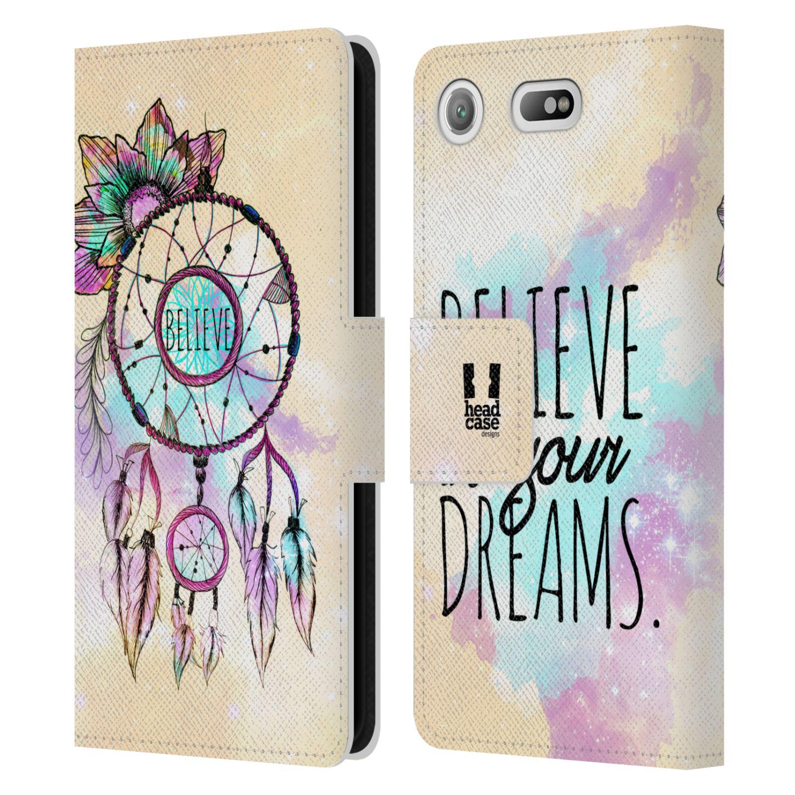 Pouzdro na mobil Sony Xperia XZ1 Compact - Head Case - Lapač snů - květy fialová