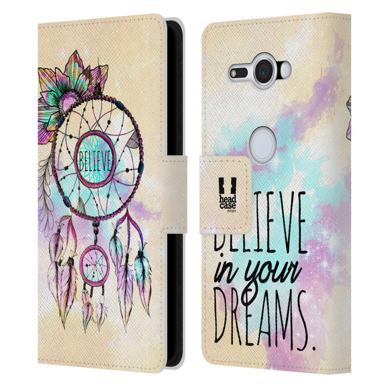 Pouzdro na mobil Sony Xperia XZ2 Compact - Head Case - Lapač snů - květy fialová