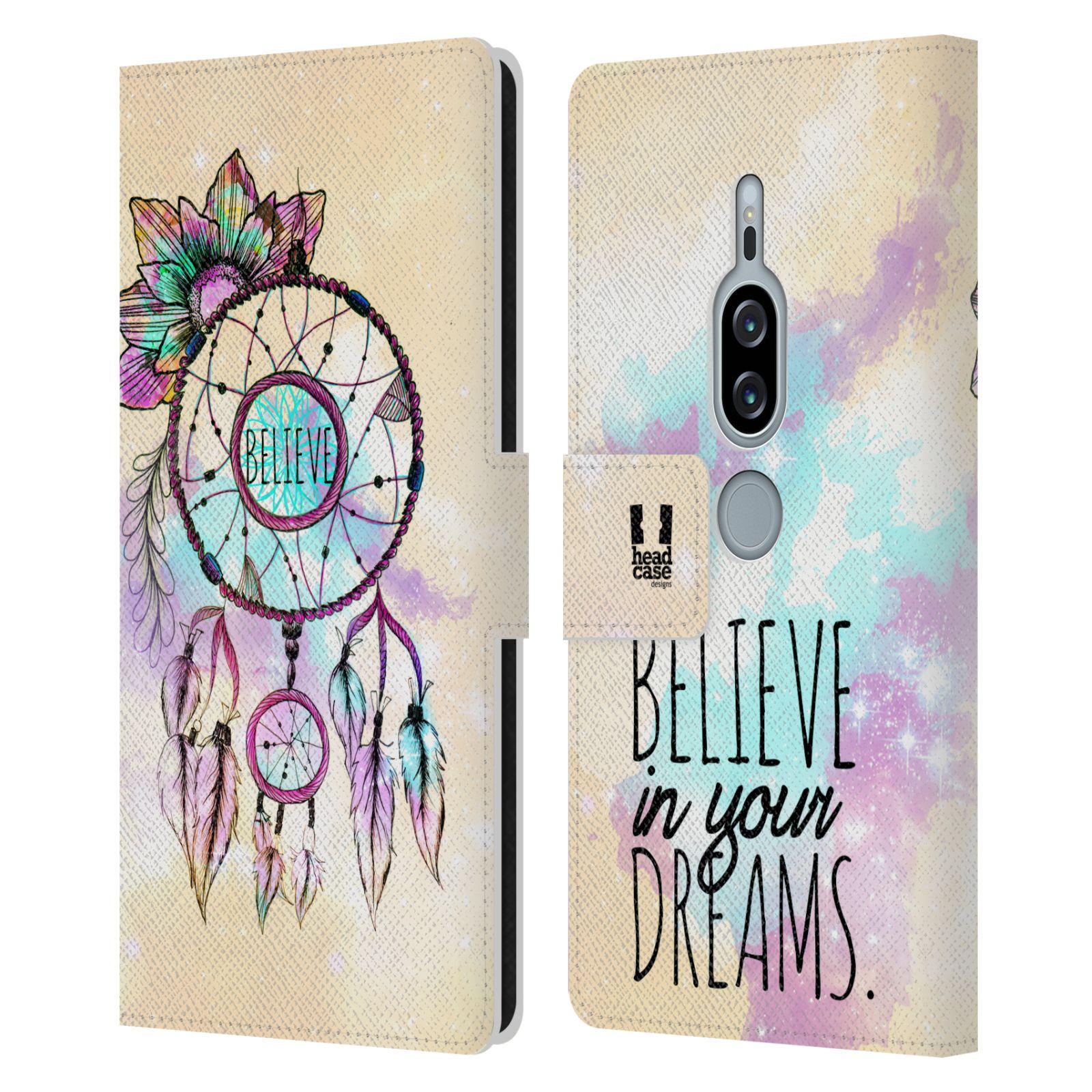 Pouzdro na mobil Sony Xperia XZ2 Premium - Head Case - Lapač snů - květy fialová