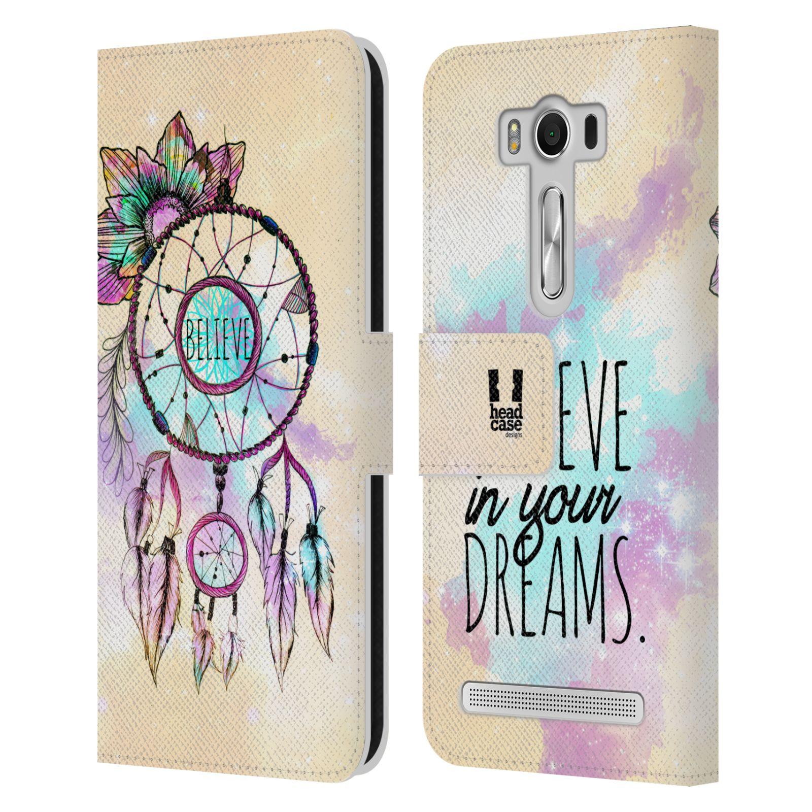 Pouzdro na mobil Asus Zenfone 2 Laser ZE500KL - Head Case - Lapač snů - květy fialová