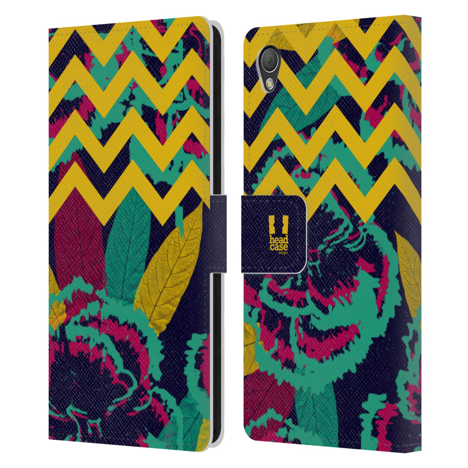 HEAD CASE DESIGNS TREND MIX LEATHER BOOK WALLET CASE COVER FOR SONY PHONES 1