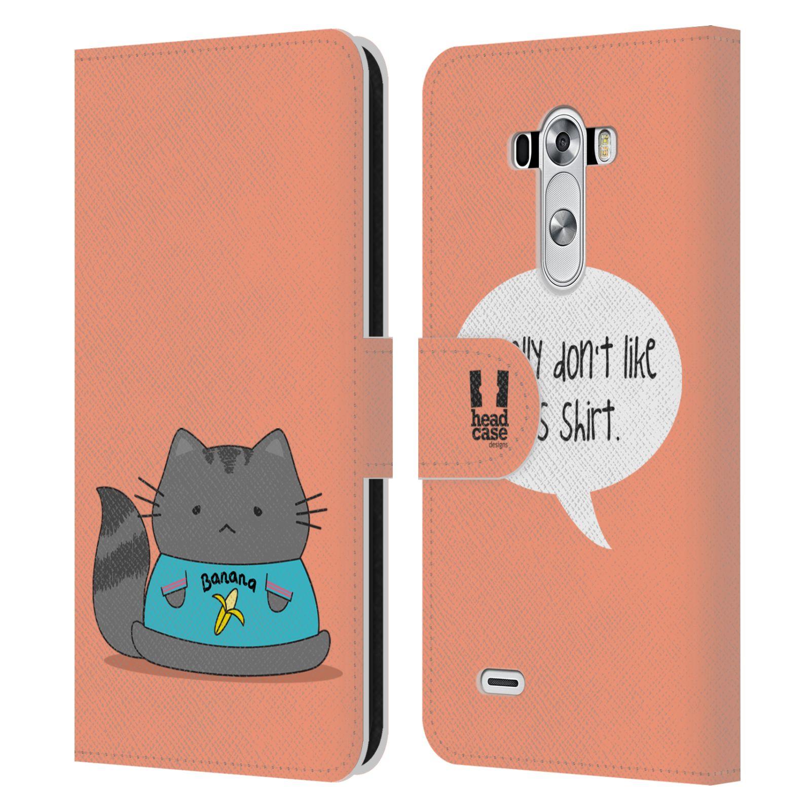 head case designs wilbur the cat leather book wallet case. Black Bedroom Furniture Sets. Home Design Ideas