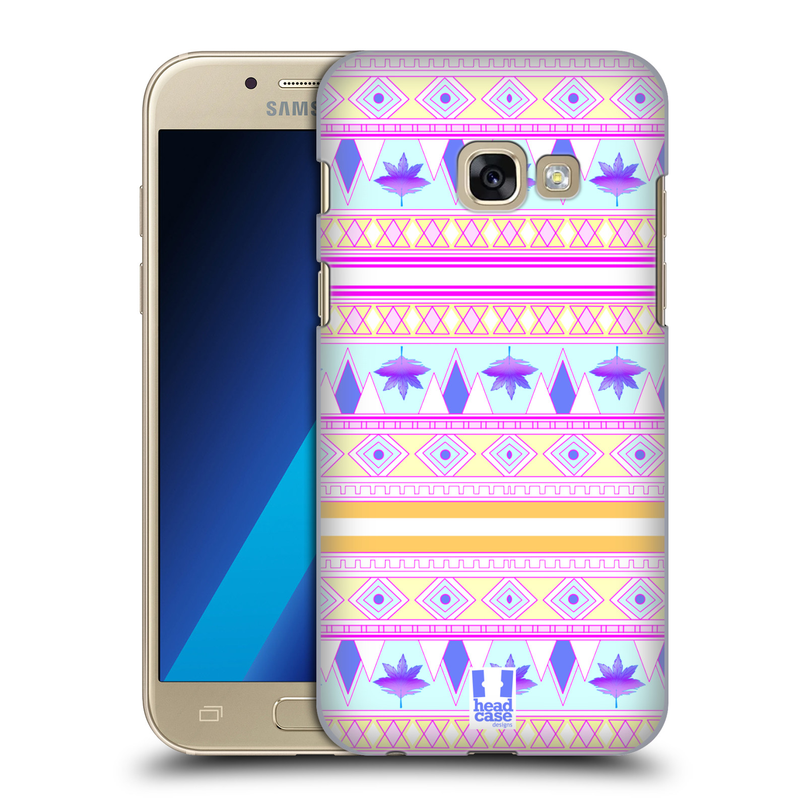HEAD-CASE-DESIGNS-FOLIAGE-AZTEC-DESIGN-BACK-CASE-FOR-SAMSUNG-GALAXY-A3-2017
