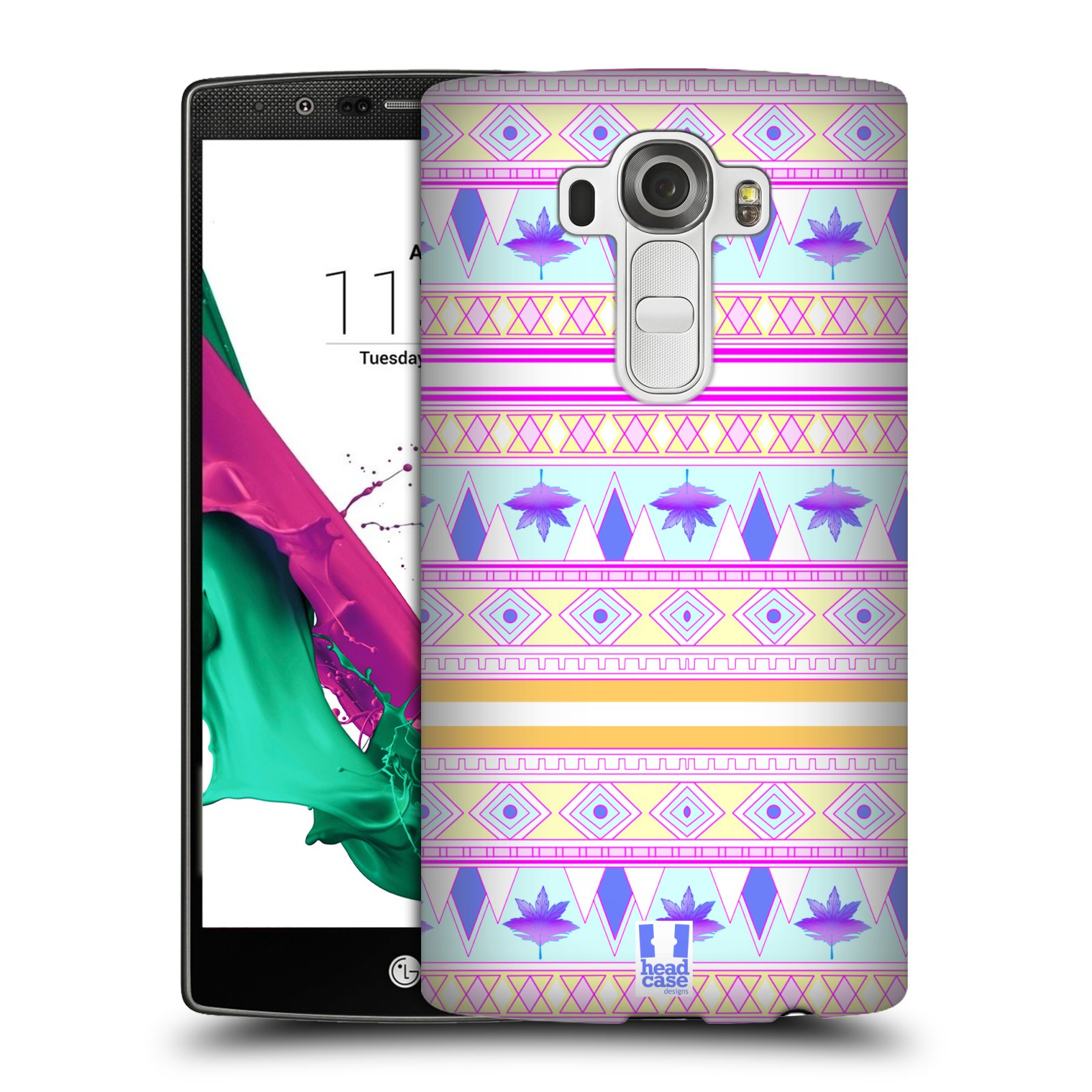 HEAD CASE DESIGNS FOLIAGE AZTEC HARD BACK CASE FOR LG G4