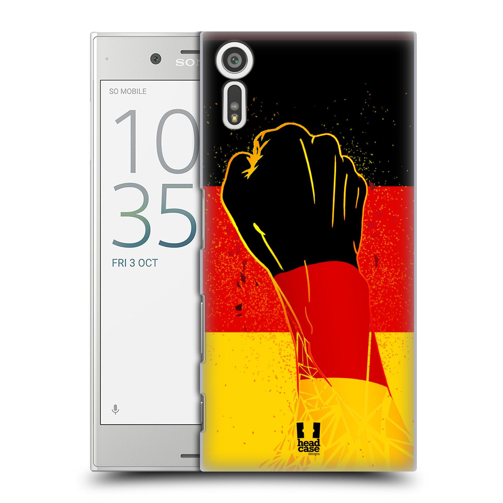 HEAD CASE plastový obal na mobil Sony Xperia XZ Sport fotbal fanoušek ruka