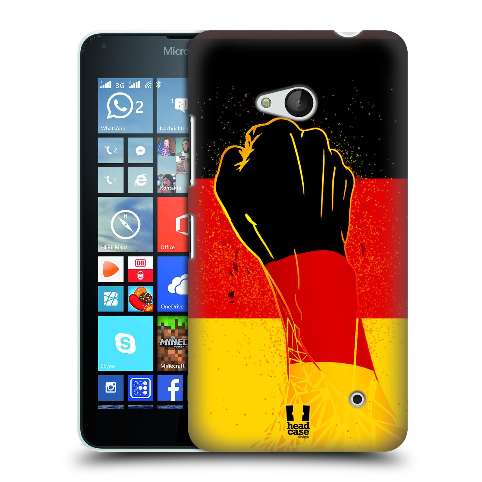HEAD CASE plastový obal na mobil Nokia Lumia 640 Sport fotbal fanoušek ruka