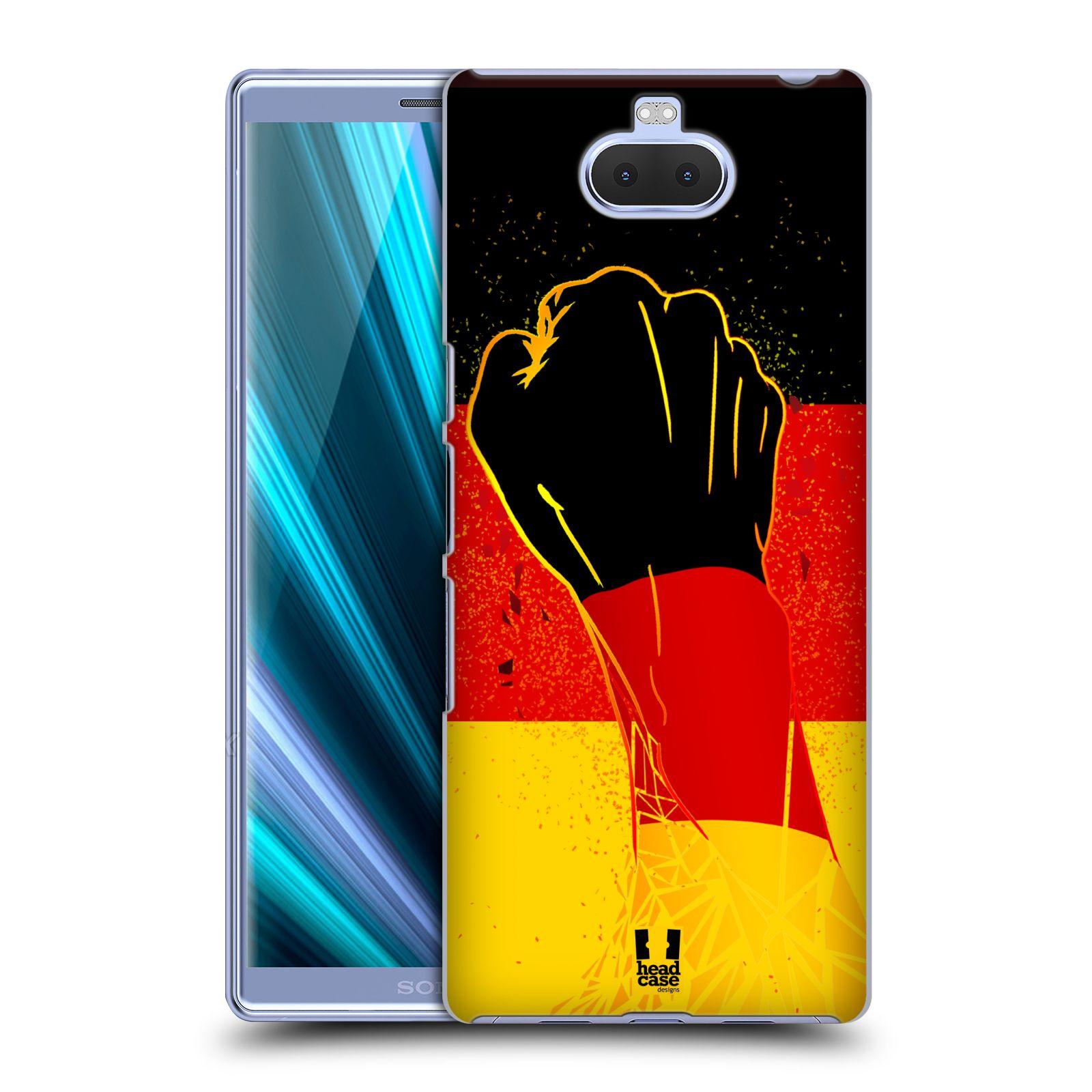 Pouzdro na mobil Sony Xperia 10 Plus - Head Case - Sport fotbal fanoušek ruka