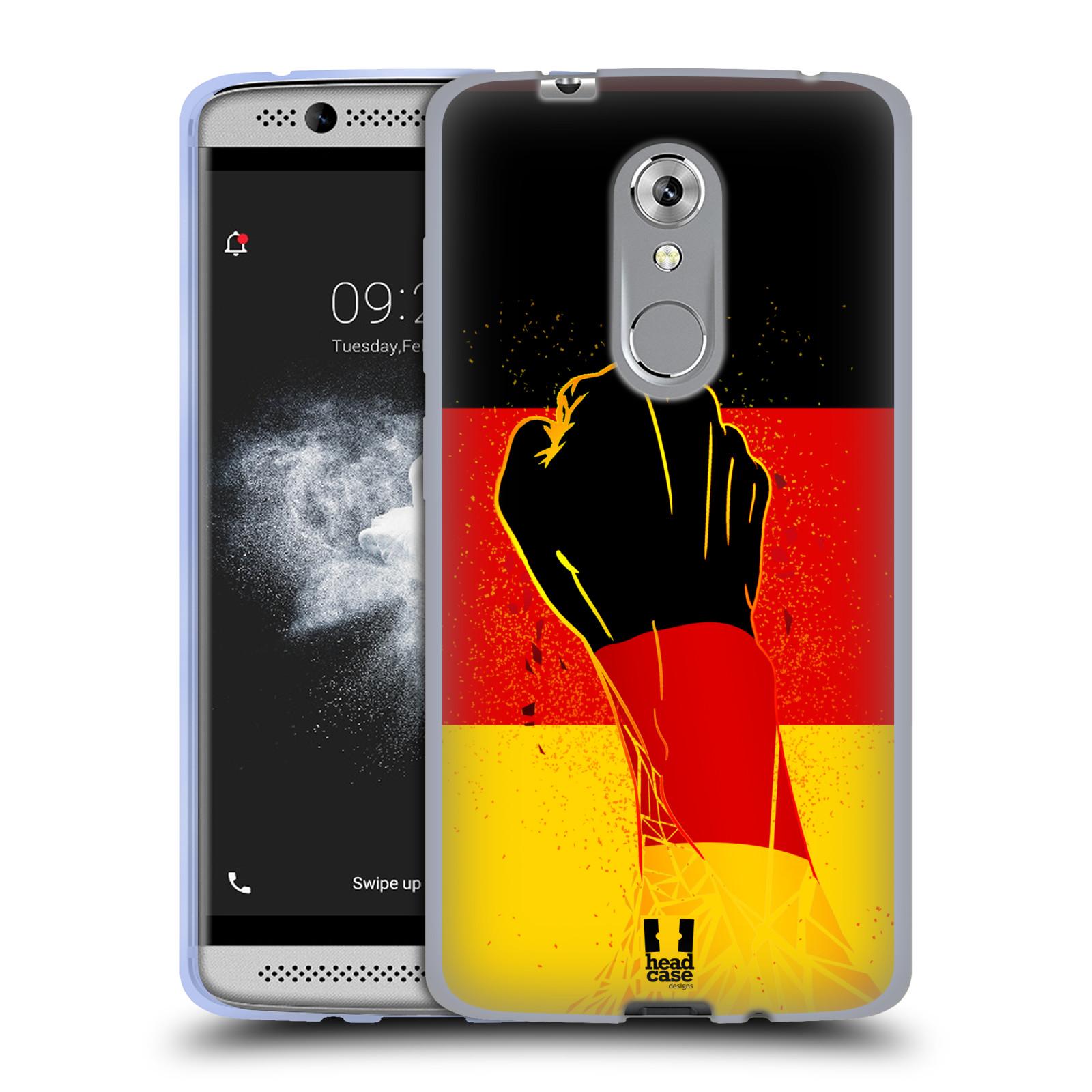 HEAD CASE silikonový obal na mobil ZTE Axon 7 MINI Sport fotbal fanoušek ruka