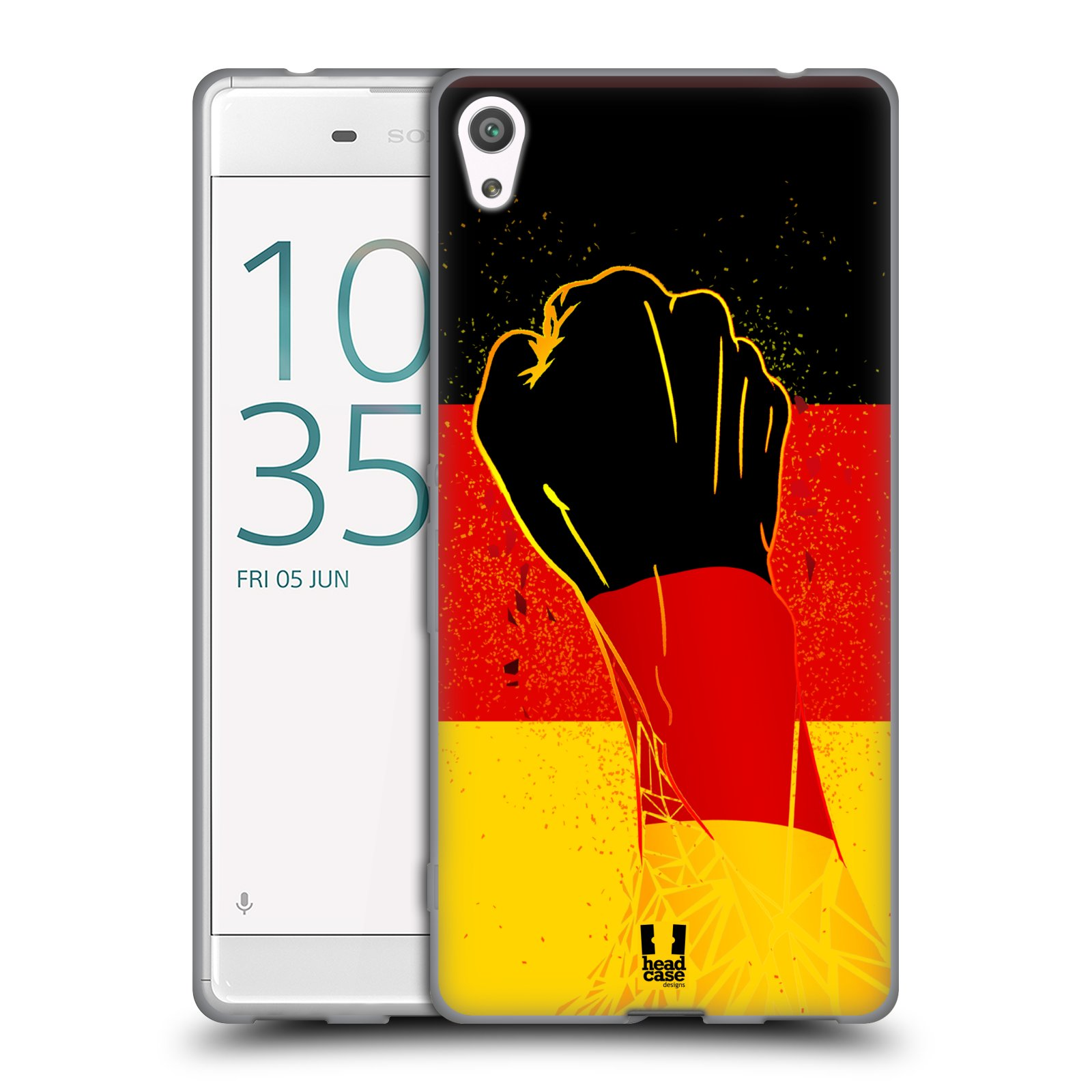 HEAD CASE silikonový obal na mobil Sony Xperia XA ULTRA Sport fotbal fanoušek ruka