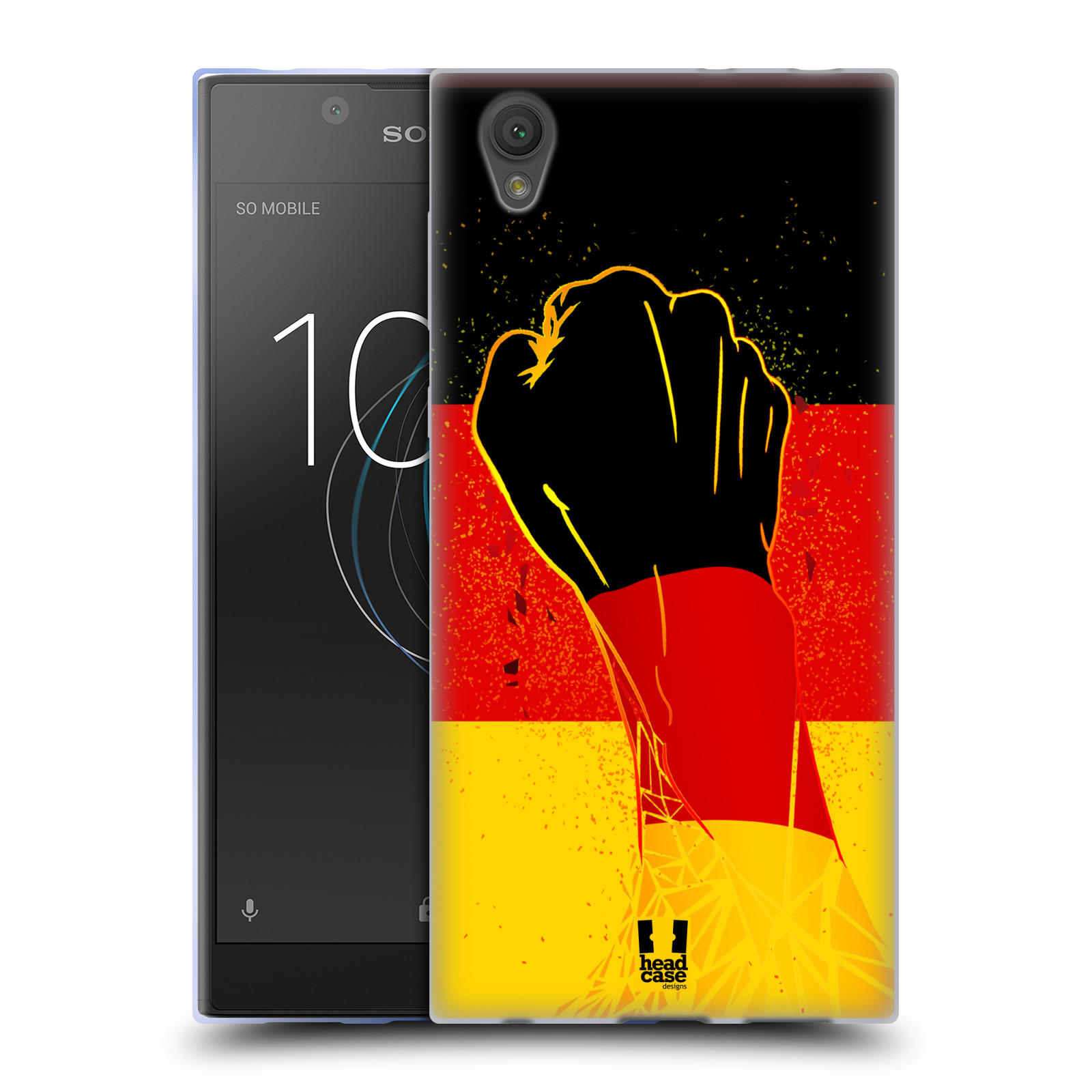 HEAD CASE silikonový obal na mobil Sony Xperia L1 Sport fotbal fanoušek ruka
