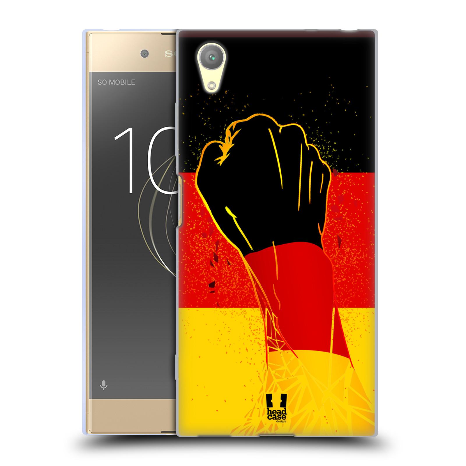 HEAD CASE silikonový obal na mobil Sony Xperia XA1 PLUS Sport fotbal fanoušek ruka