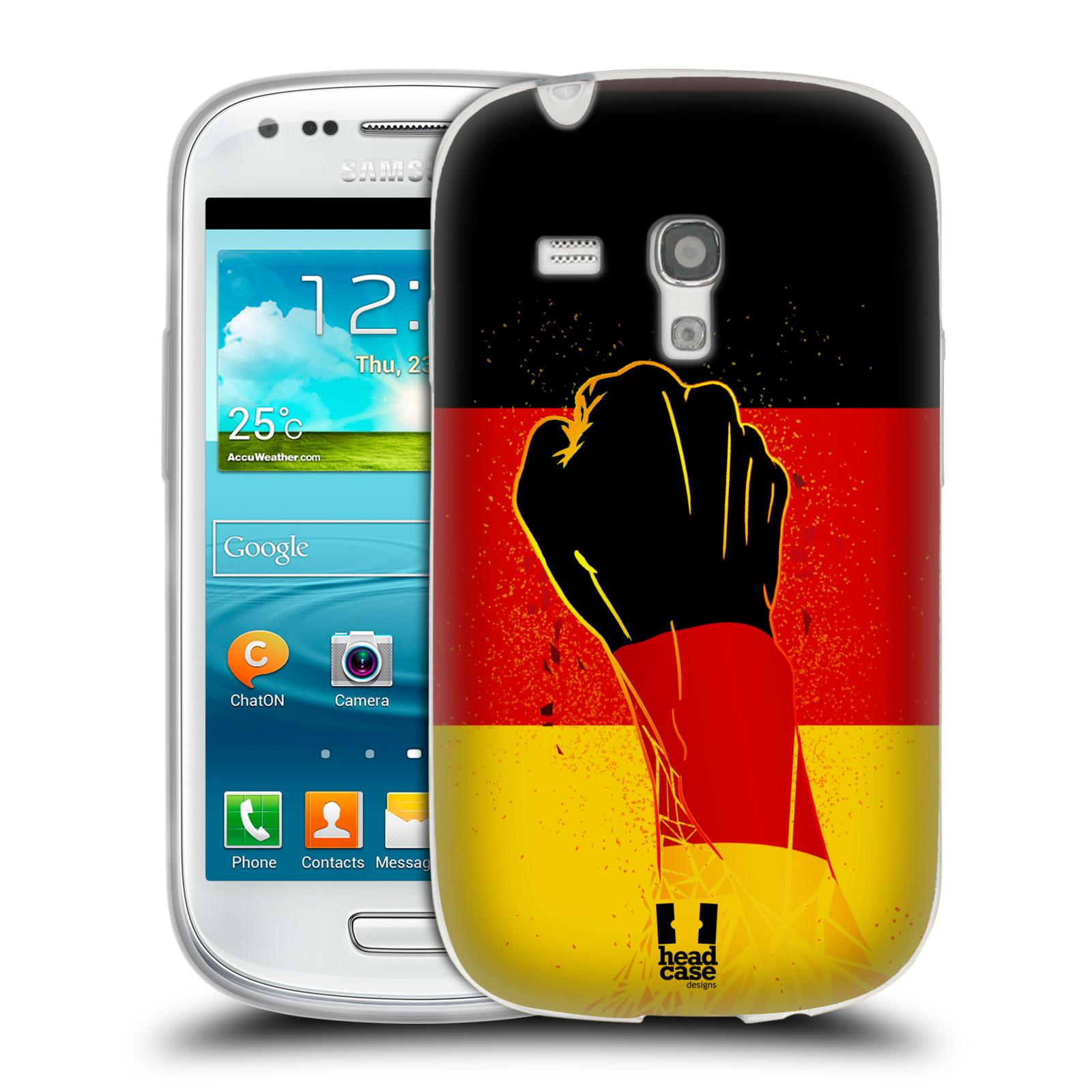 HEAD CASE silikonový obal na mobil Samsung Galaxy S3 MINI Sport fotbal fanoušek ruka