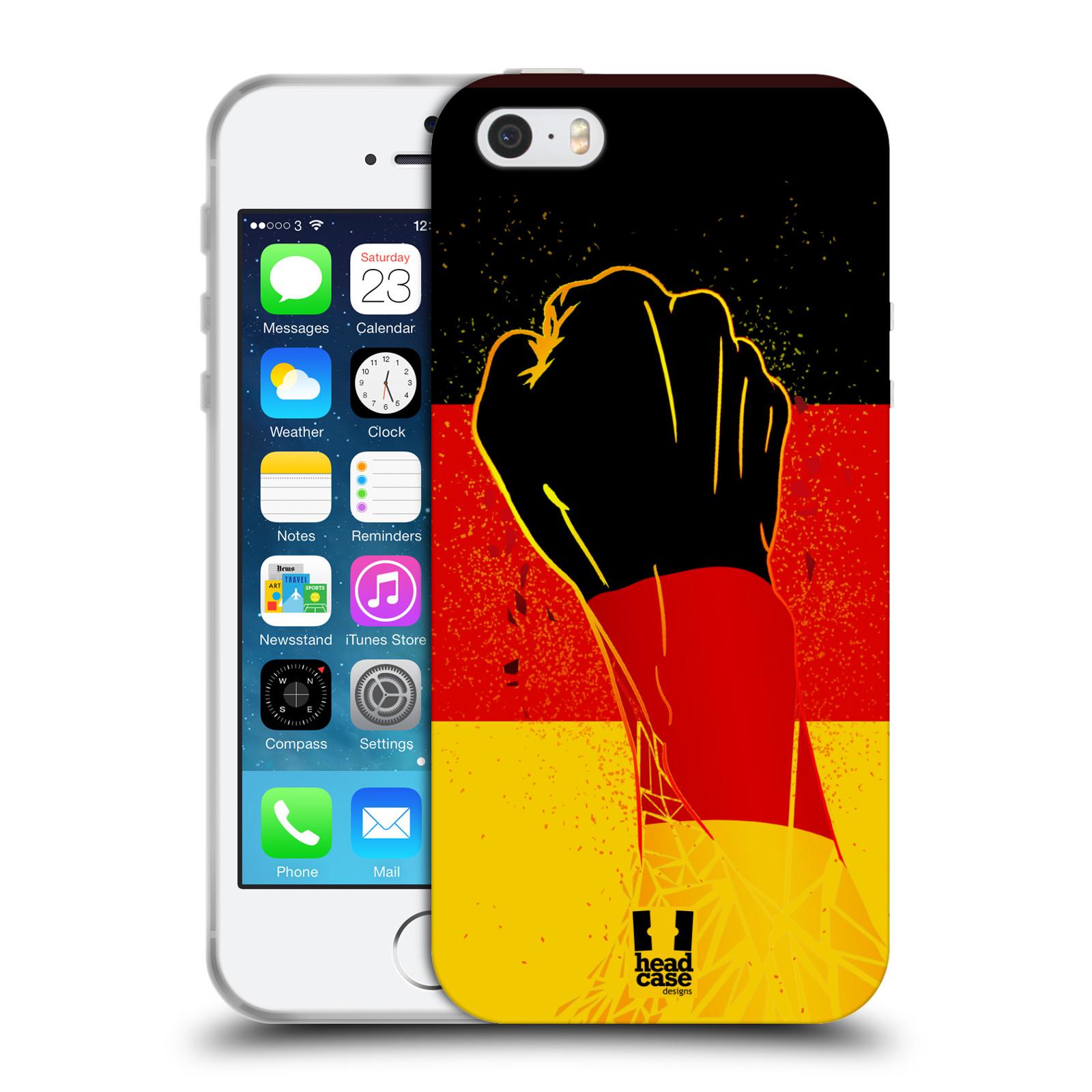 HEAD CASE silikonový obal na mobil Apple Iphone 5 5S Sport fotbal fanoušek  ruka 8dc42cfb15f