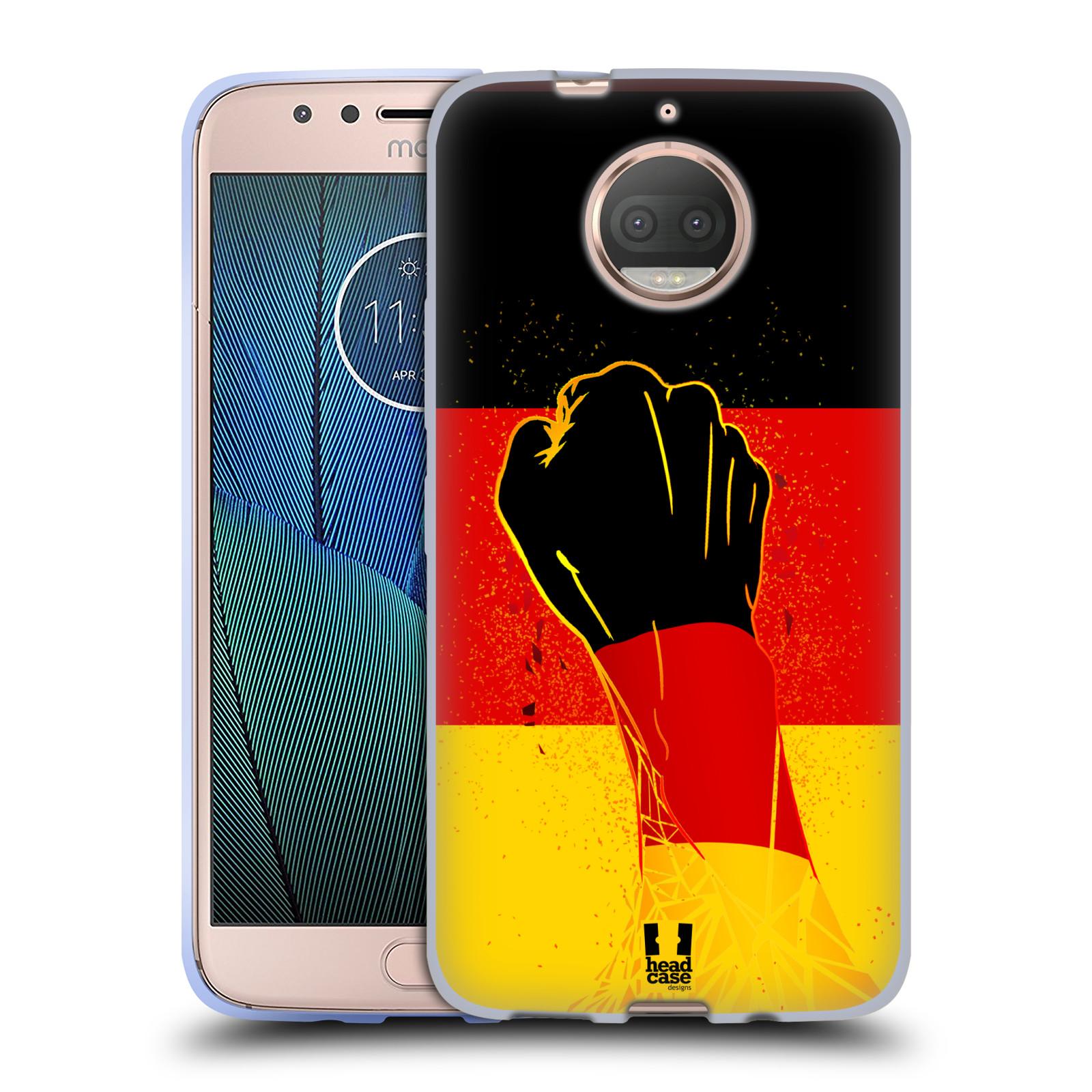 HEAD CASE silikonový obal na mobil Lenovo Moto G5s PLUS Sport fotbal fanoušek ruka