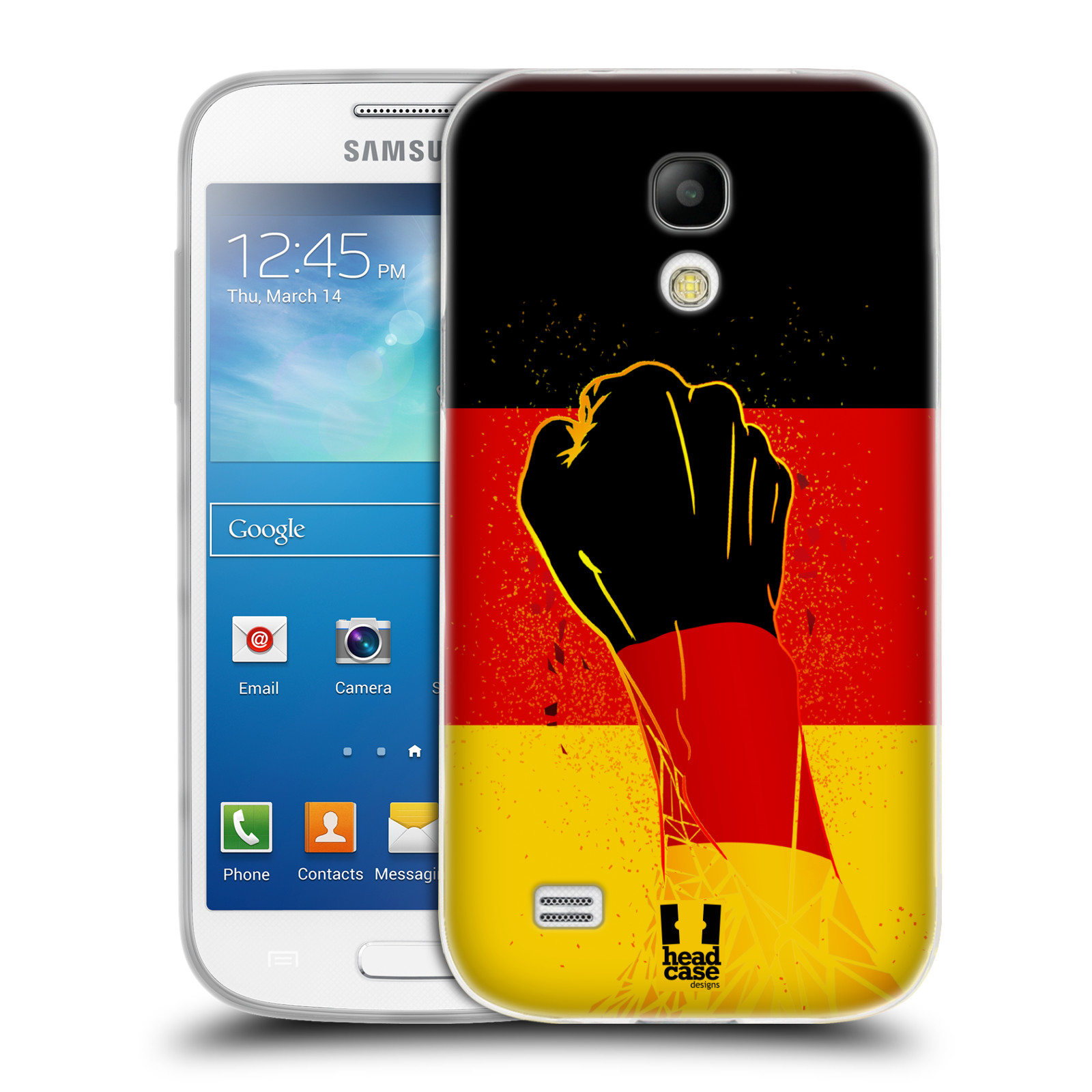 HEAD CASE silikonový obal na mobil Samsung Galaxy S4 MINI Sport fotbal fanoušek ruka