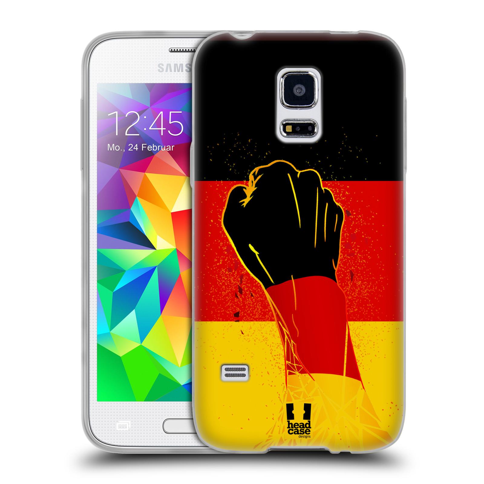 HEAD CASE silikonový obal na mobil Samsung Galaxy S5 MINI Sport fotbal fanoušek ruka