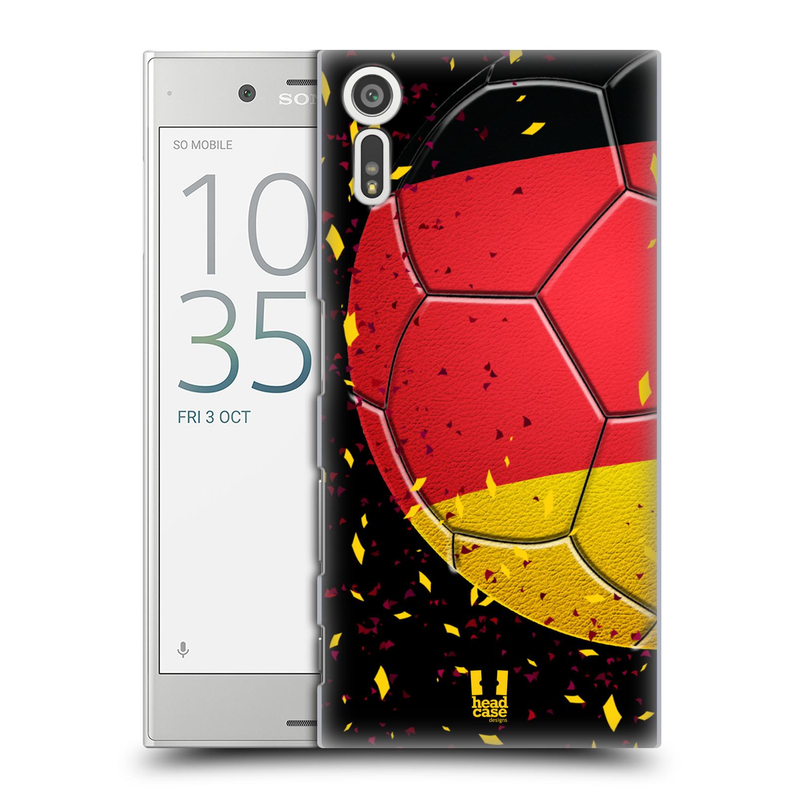 HEAD CASE plastový obal na mobil Sony Xperia XZ Sport fotbal mistrovský míč